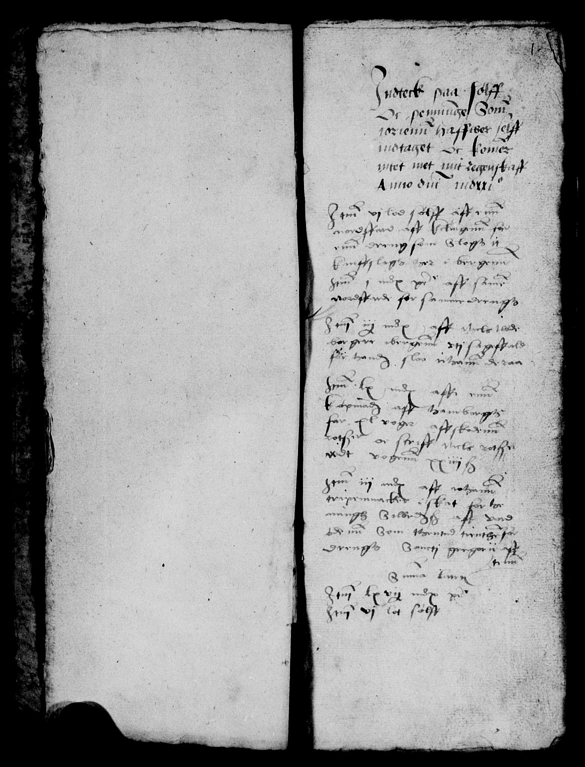 RA, Rentekammeret inntil 1814, Reviderte regnskaper, Lensregnskaper, R/Ra/L0009: Bergenhus len, 1521