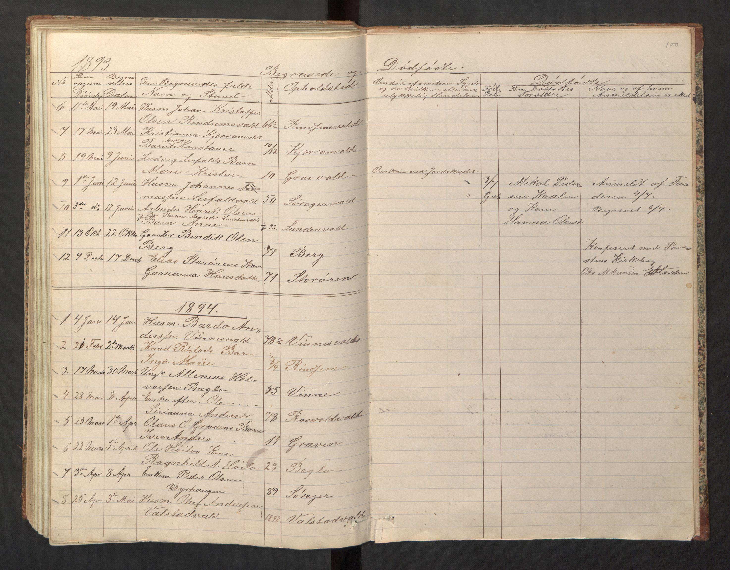SAT, Ministerialprotokoller, klokkerbøker og fødselsregistre - Nord-Trøndelag, 726/L0271: Klokkerbok nr. 726C02, 1869-1897, s. 100