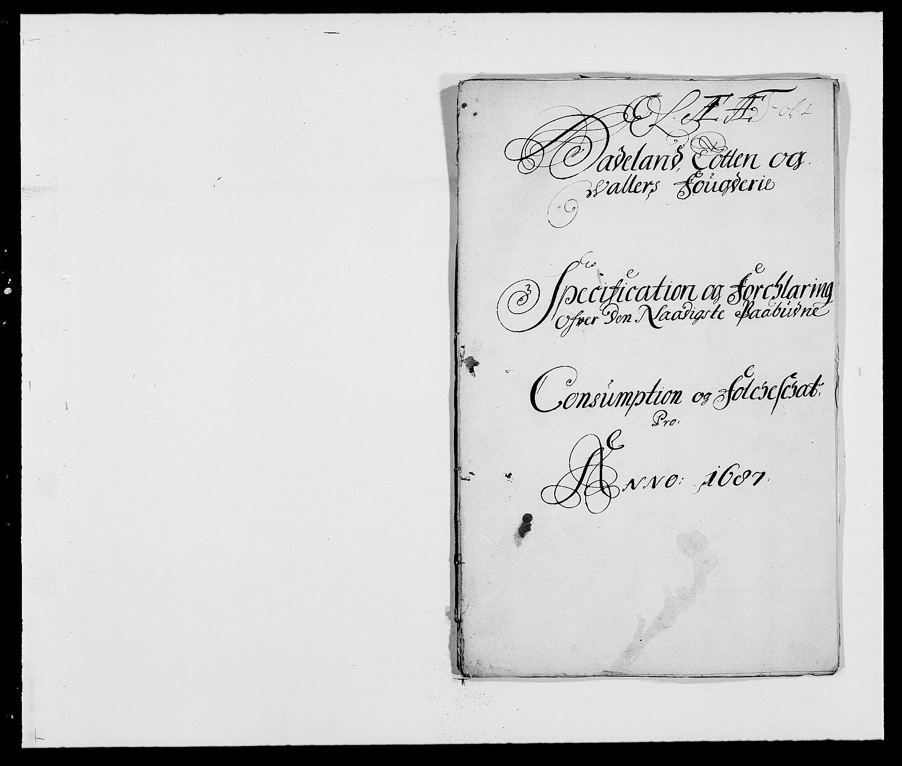 RA, Rentekammeret inntil 1814, Reviderte regnskaper, Fogderegnskap, R18/L1286: Fogderegnskap Hadeland, Toten og Valdres, 1687, s. 199
