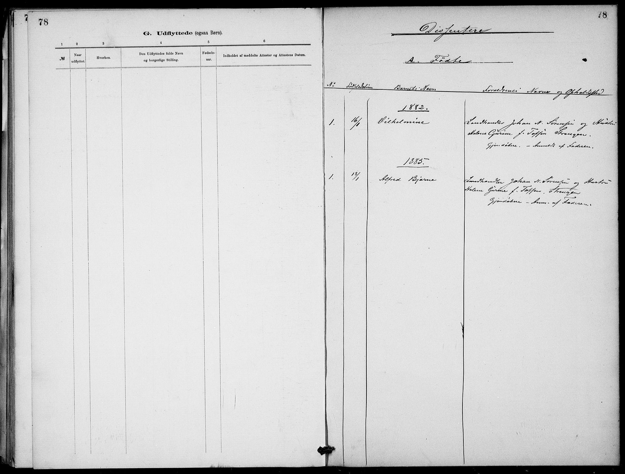 SAKO, Lunde kirkebøker, F/Fb/L0003: Ministerialbok nr. II 3, 1882-1891, s. 78