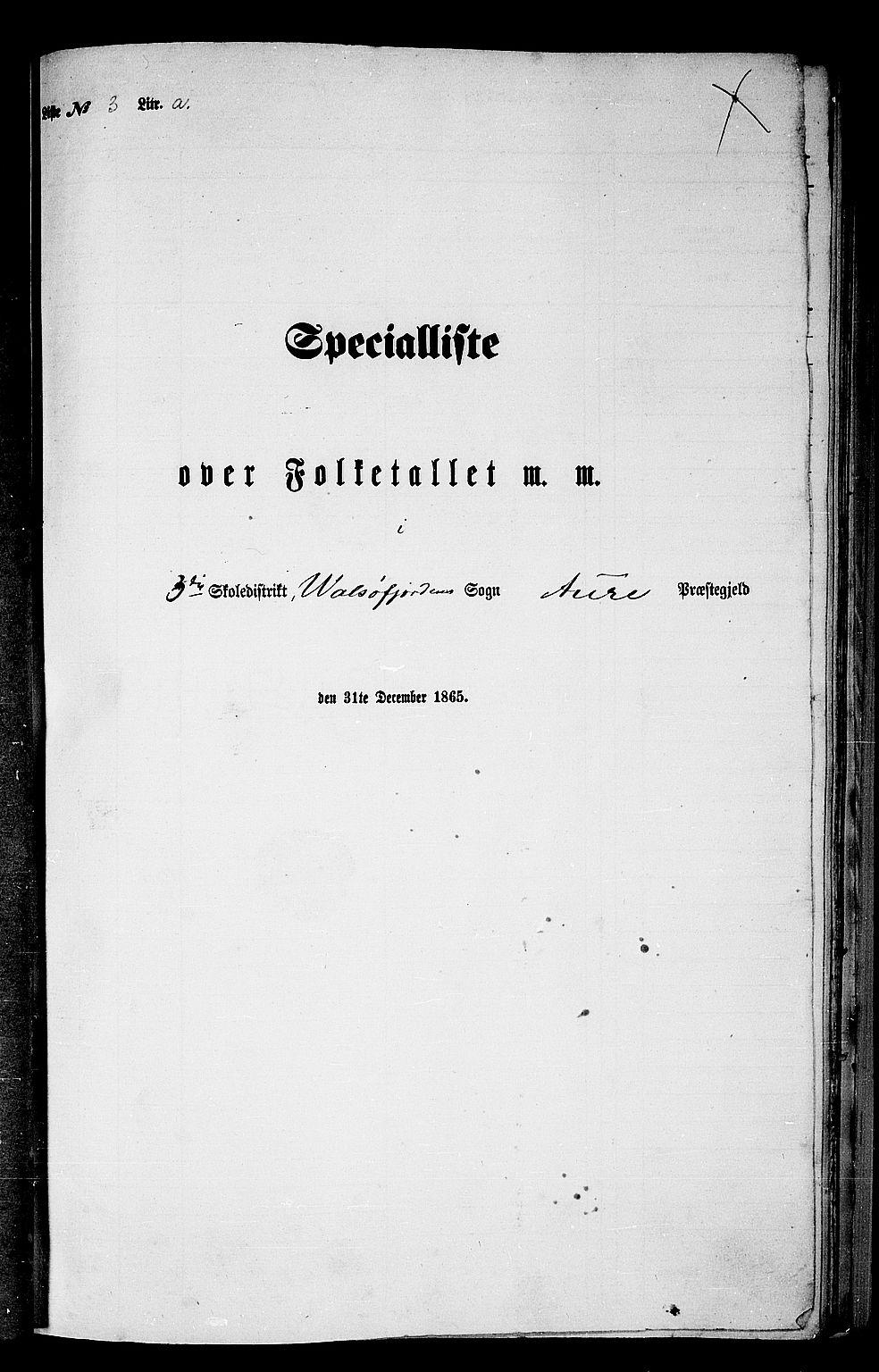 RA, Folketelling 1865 for 1569P Aure prestegjeld, 1865, s. 53