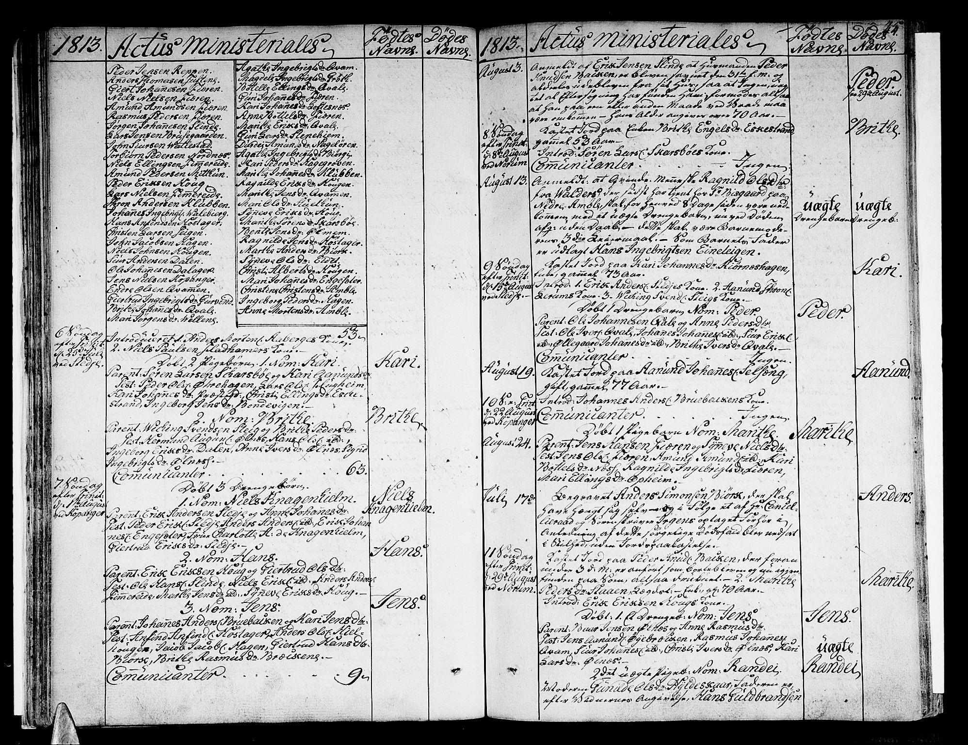 SAB, Sogndal Sokneprestembete, Ministerialbok nr. A 9, 1809-1821, s. 44