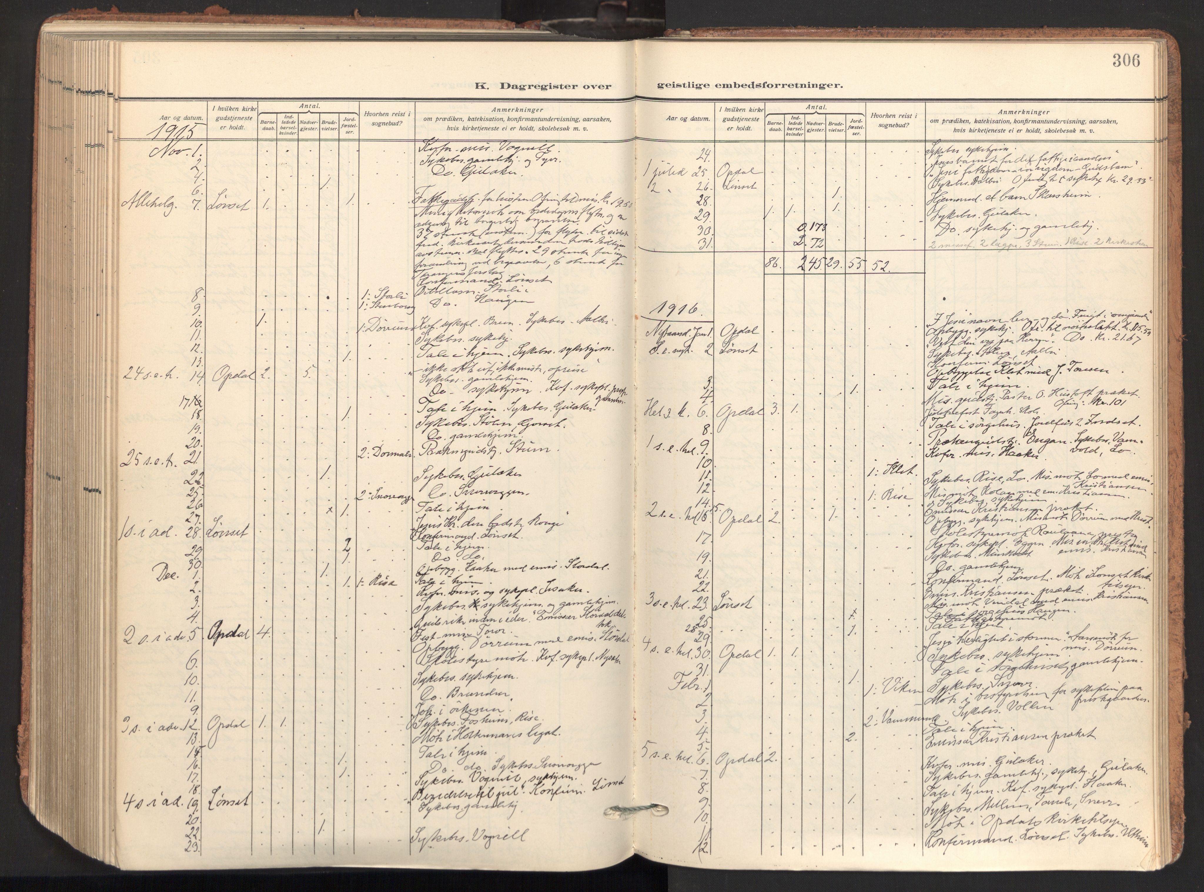SAT, Ministerialprotokoller, klokkerbøker og fødselsregistre - Sør-Trøndelag, 678/L0909: Ministerialbok nr. 678A17, 1912-1930, s. 306