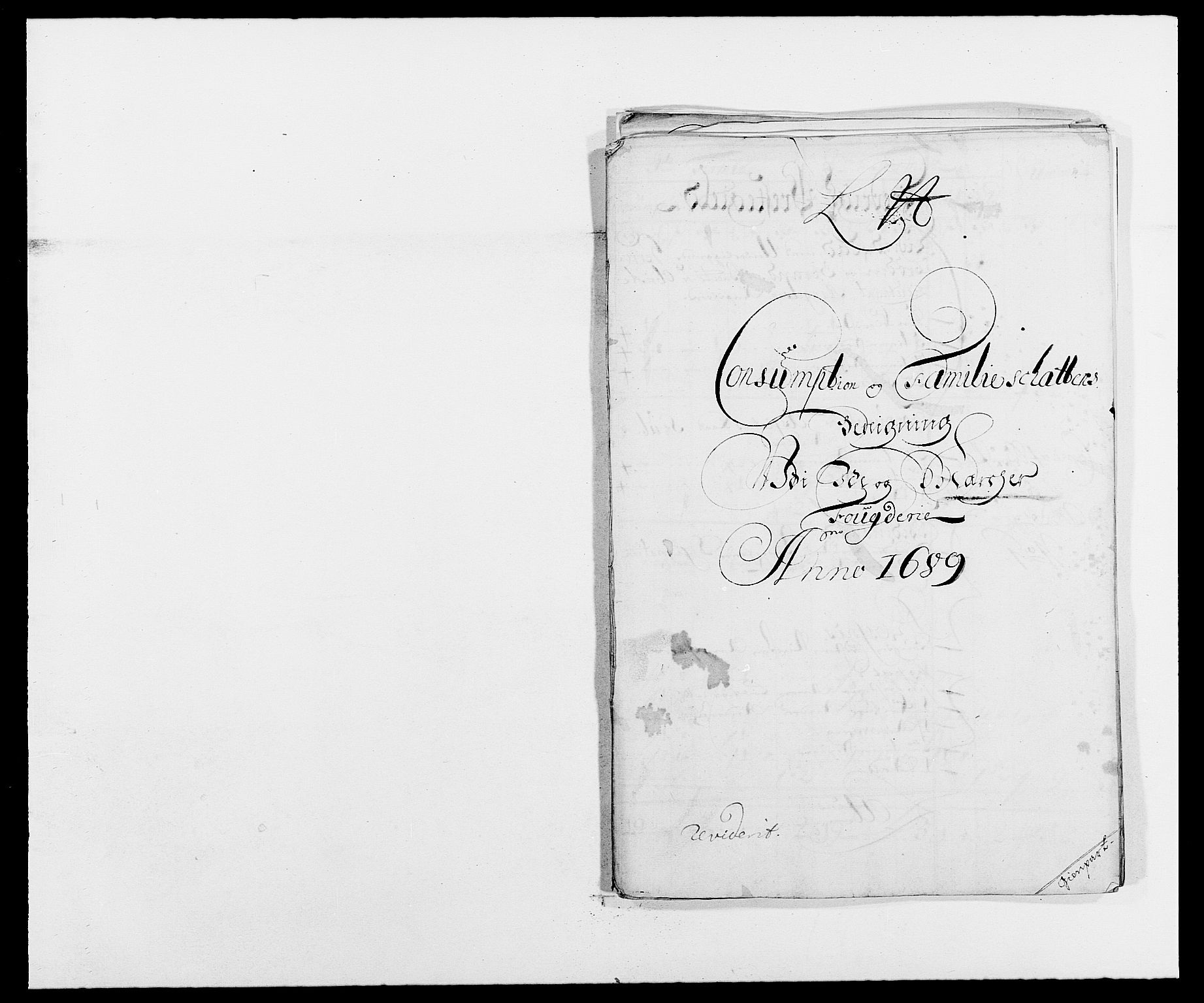 RA, Rentekammeret inntil 1814, Reviderte regnskaper, Fogderegnskap, R01/L0008: Fogderegnskap Idd og Marker, 1689, s. 203