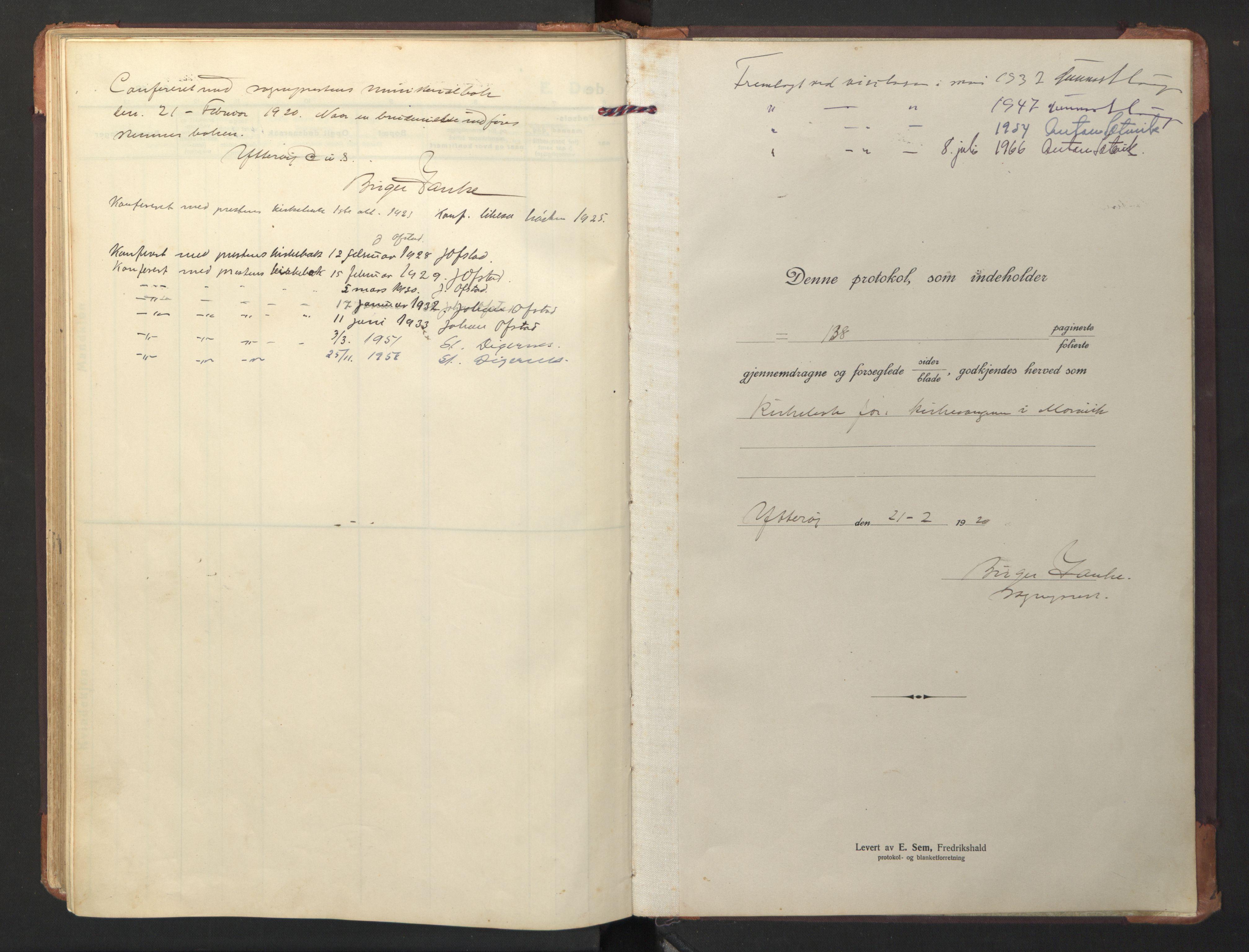 SAT, Ministerialprotokoller, klokkerbøker og fødselsregistre - Nord-Trøndelag, 733/L0328: Klokkerbok nr. 733C03, 1919-1966