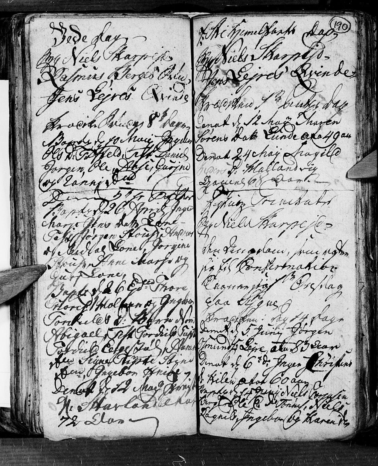 SAK, Søgne sokneprestkontor, F/Fb/Fbb/L0001: Klokkerbok nr. B 1, 1779-1802, s. 190