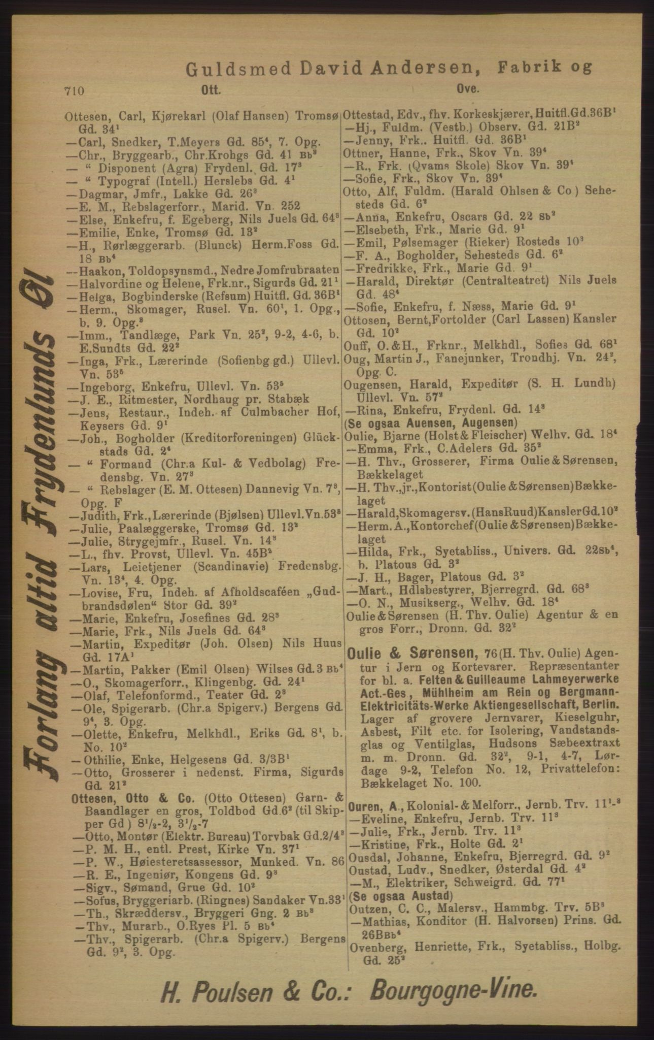 PUBL, Kristiania/Oslo adressebok, 1906, s. 710
