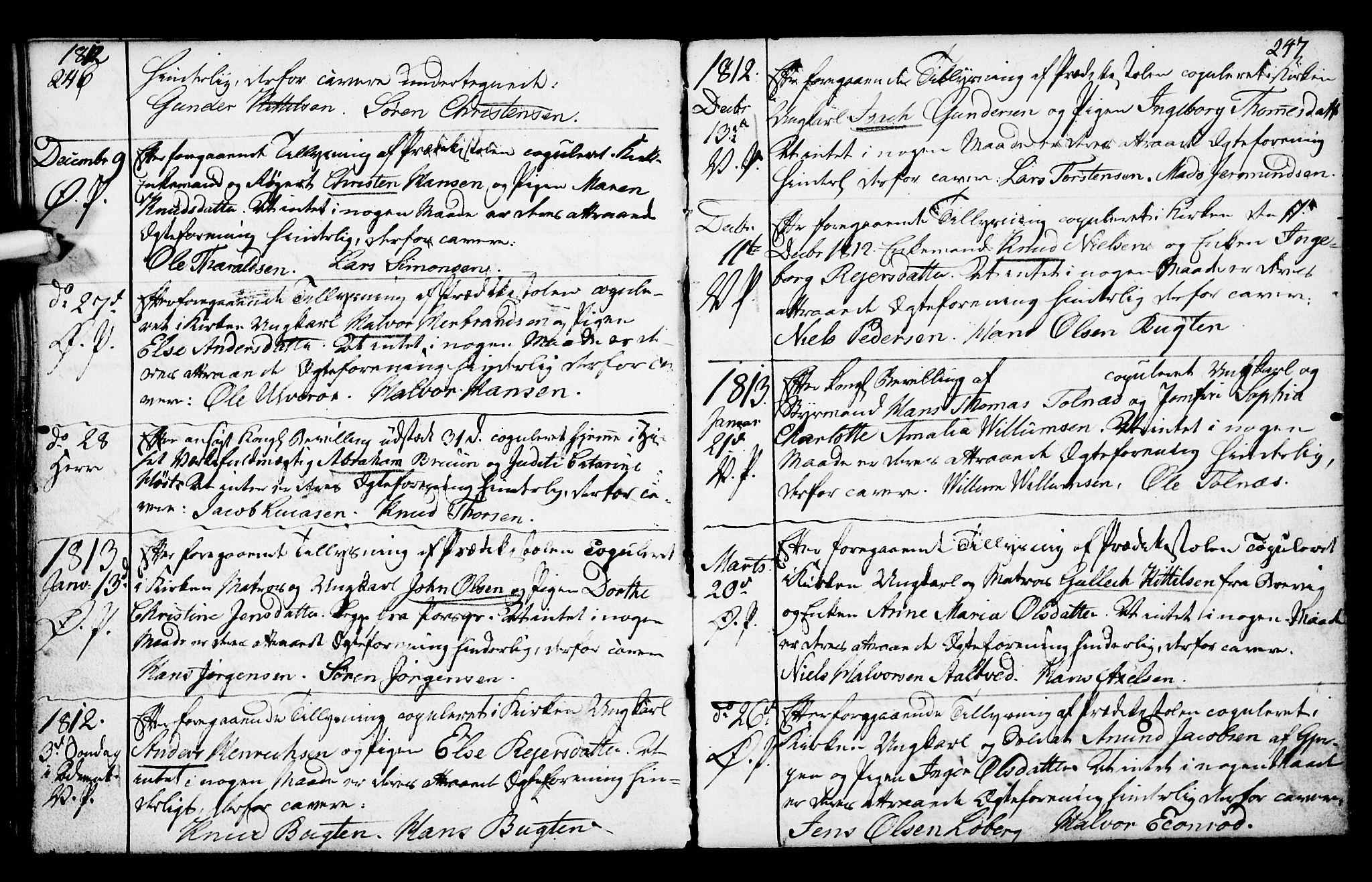 SAKO, Porsgrunn kirkebøker , F/Fa/L0003: Ministerialbok nr. 3, 1764-1814, s. 246-247