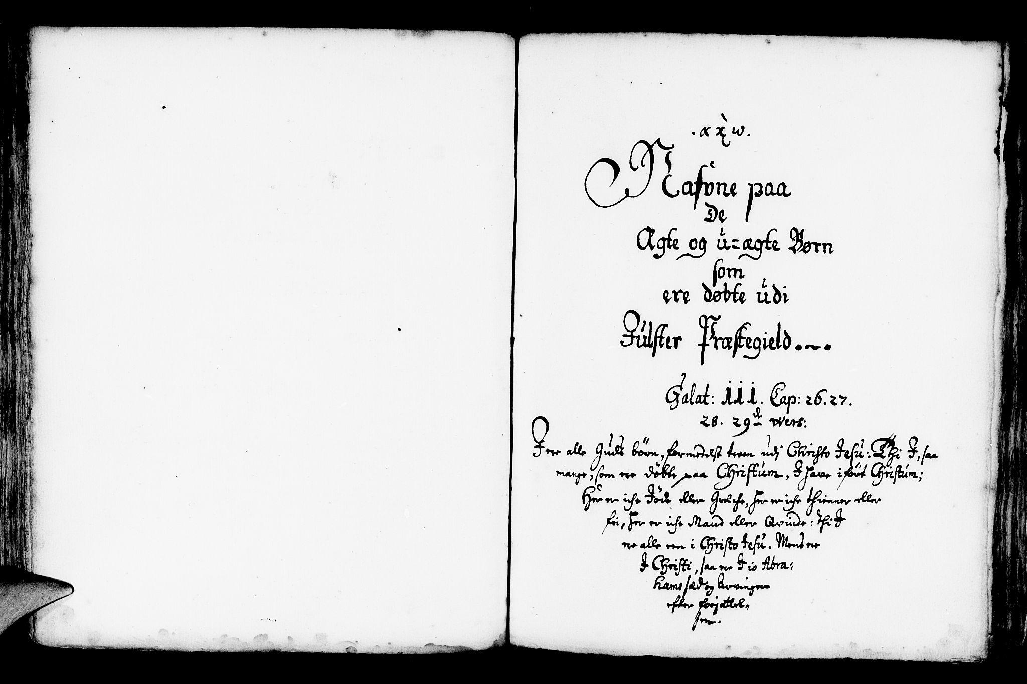 SAB, Jølster Sokneprestembete, Ministerialbok nr. A 1, 1696-1728