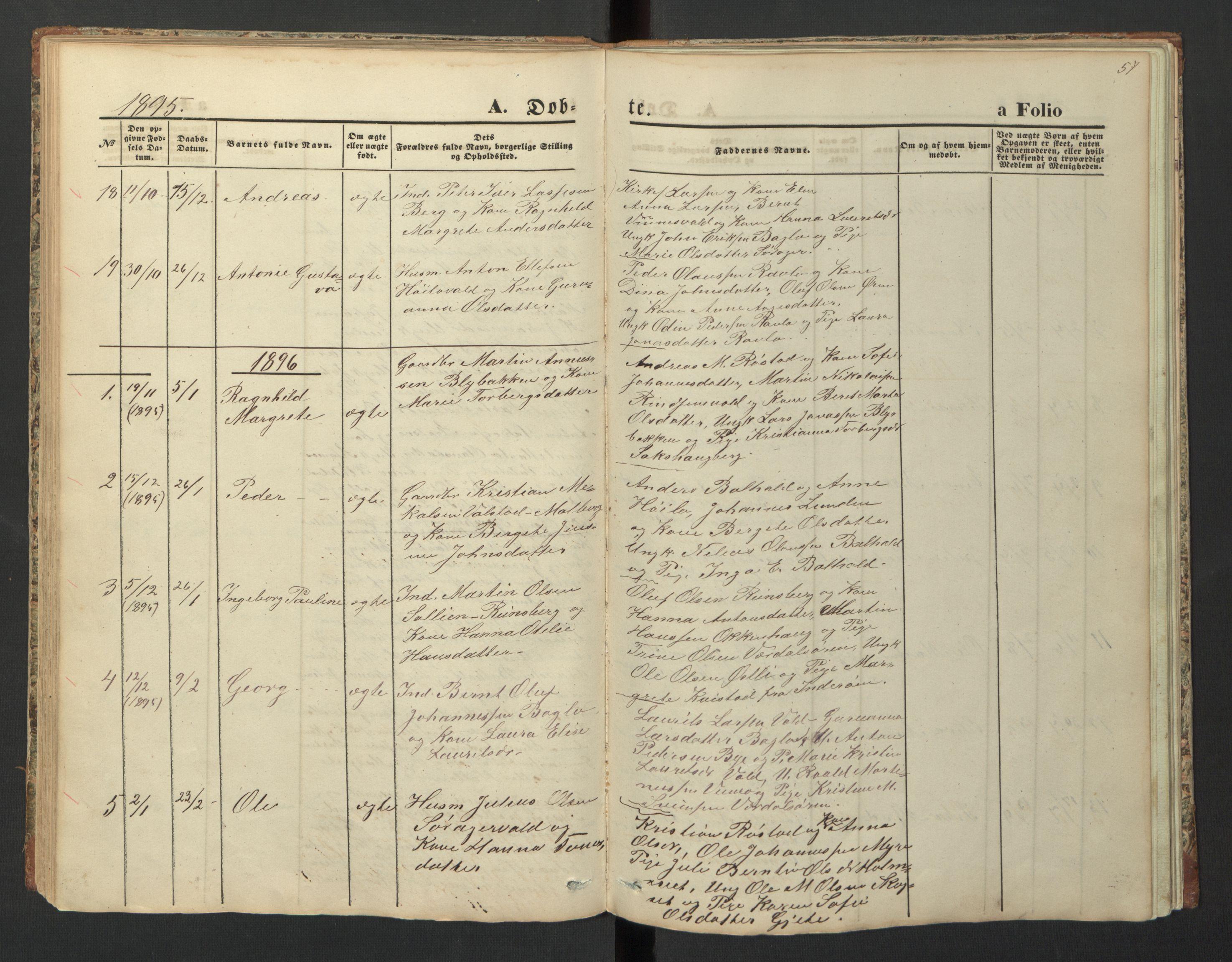 SAT, Ministerialprotokoller, klokkerbøker og fødselsregistre - Nord-Trøndelag, 726/L0271: Klokkerbok nr. 726C02, 1869-1897, s. 57