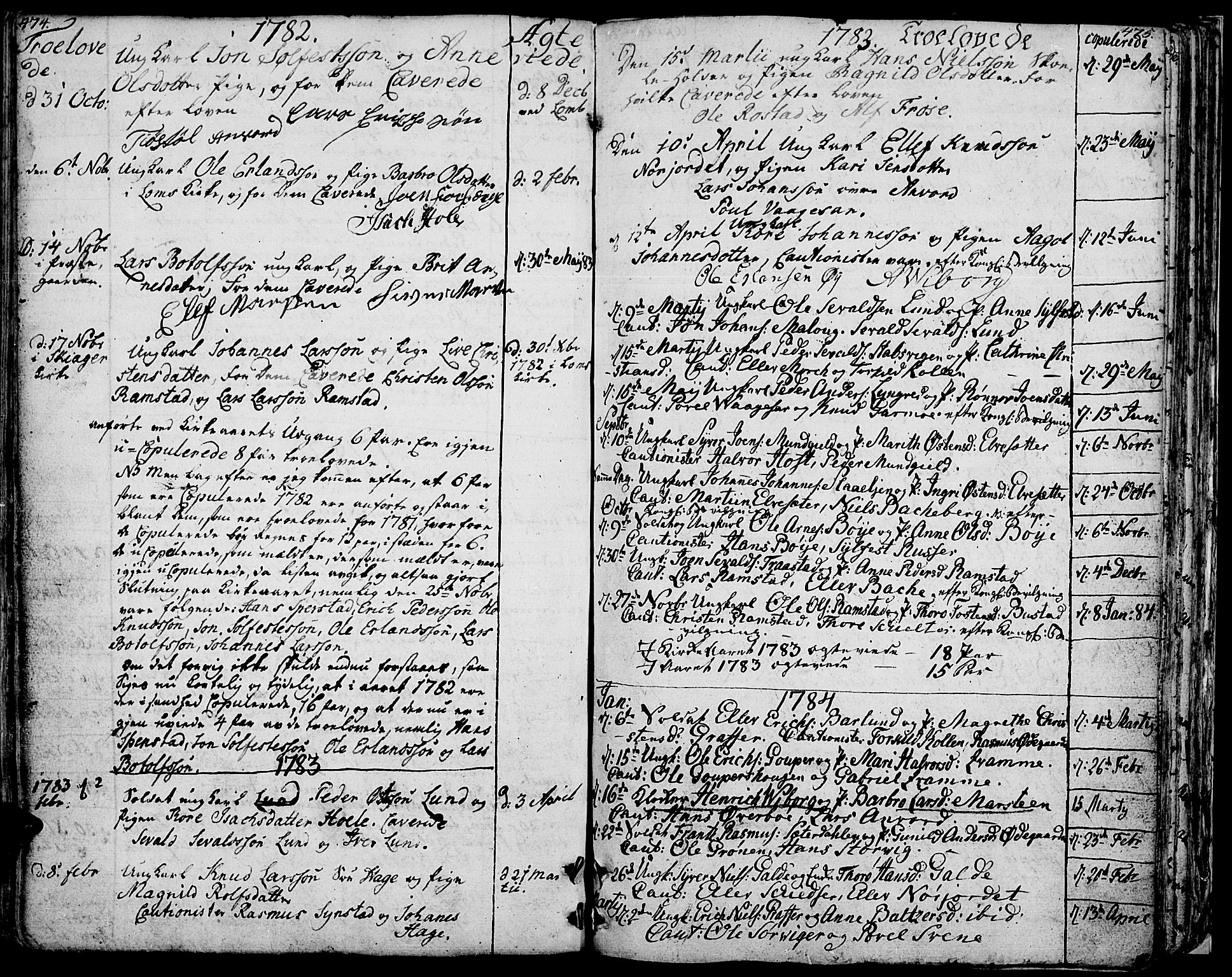 SAH, Lom prestekontor, K/L0002: Ministerialbok nr. 2, 1749-1801, s. 474-475