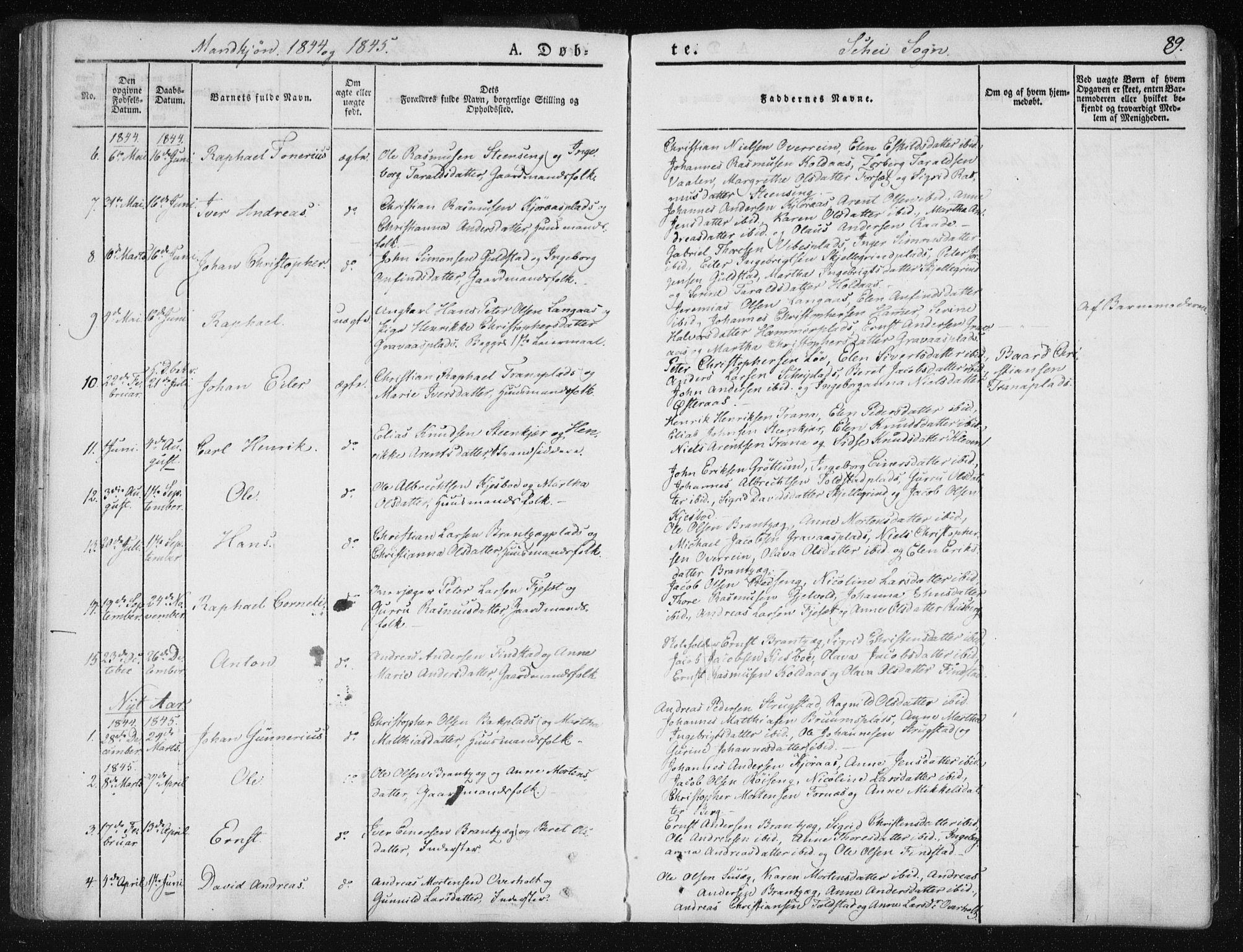SAT, Ministerialprotokoller, klokkerbøker og fødselsregistre - Nord-Trøndelag, 735/L0339: Ministerialbok nr. 735A06 /2, 1836-1848, s. 89