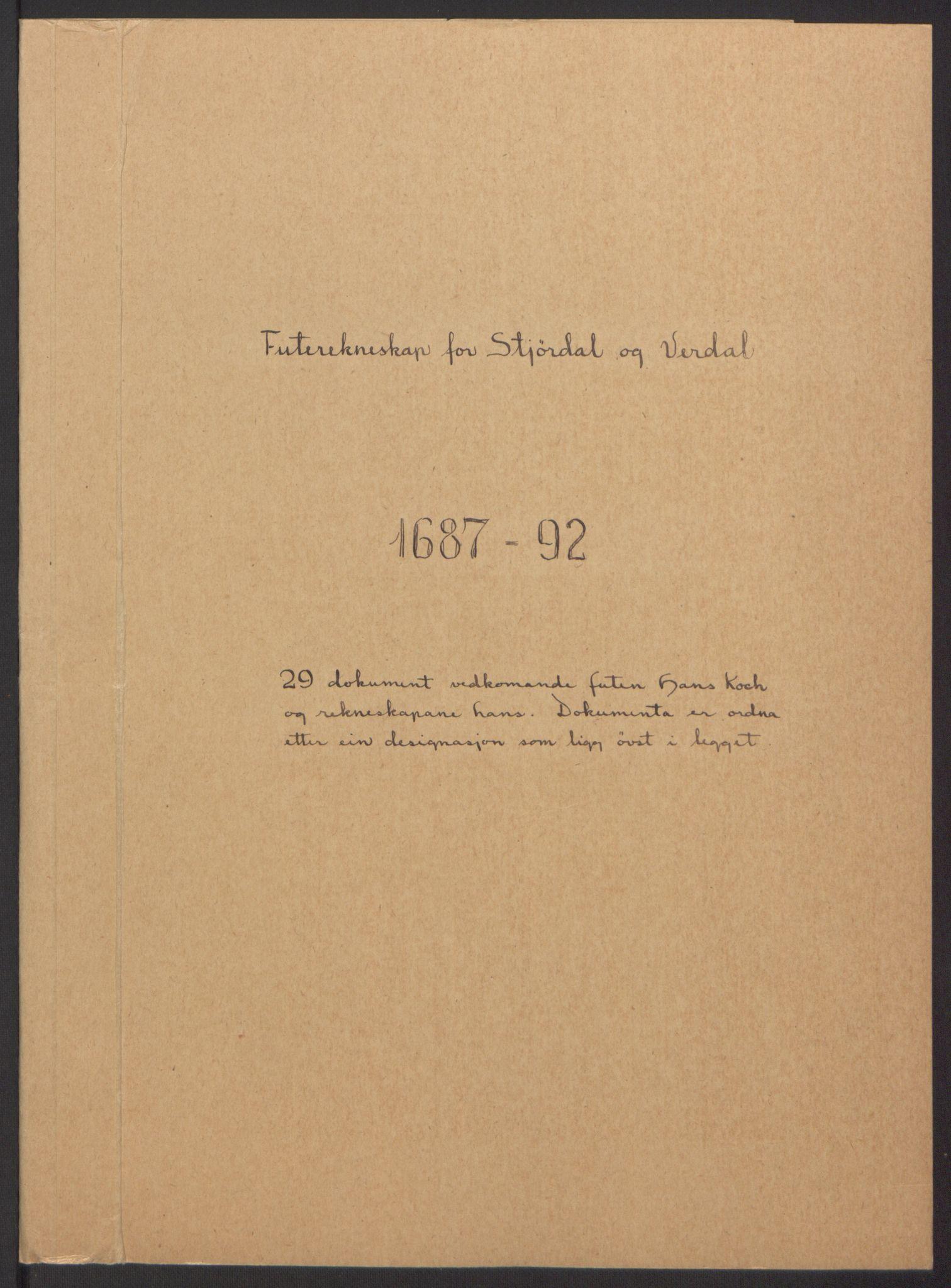 RA, Rentekammeret inntil 1814, Reviderte regnskaper, Fogderegnskap, R62/L4185: Fogderegnskap Stjørdal og Verdal, 1692, s. 341