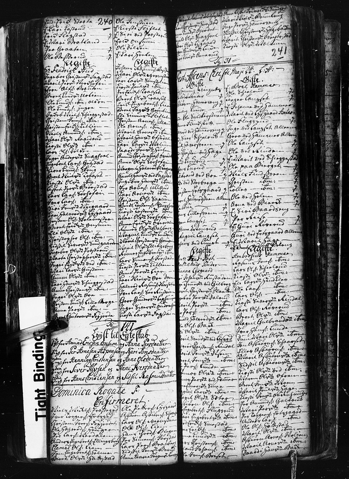 SAH, Fåberg prestekontor, Klokkerbok nr. 1, 1727-1767, s. 240-241