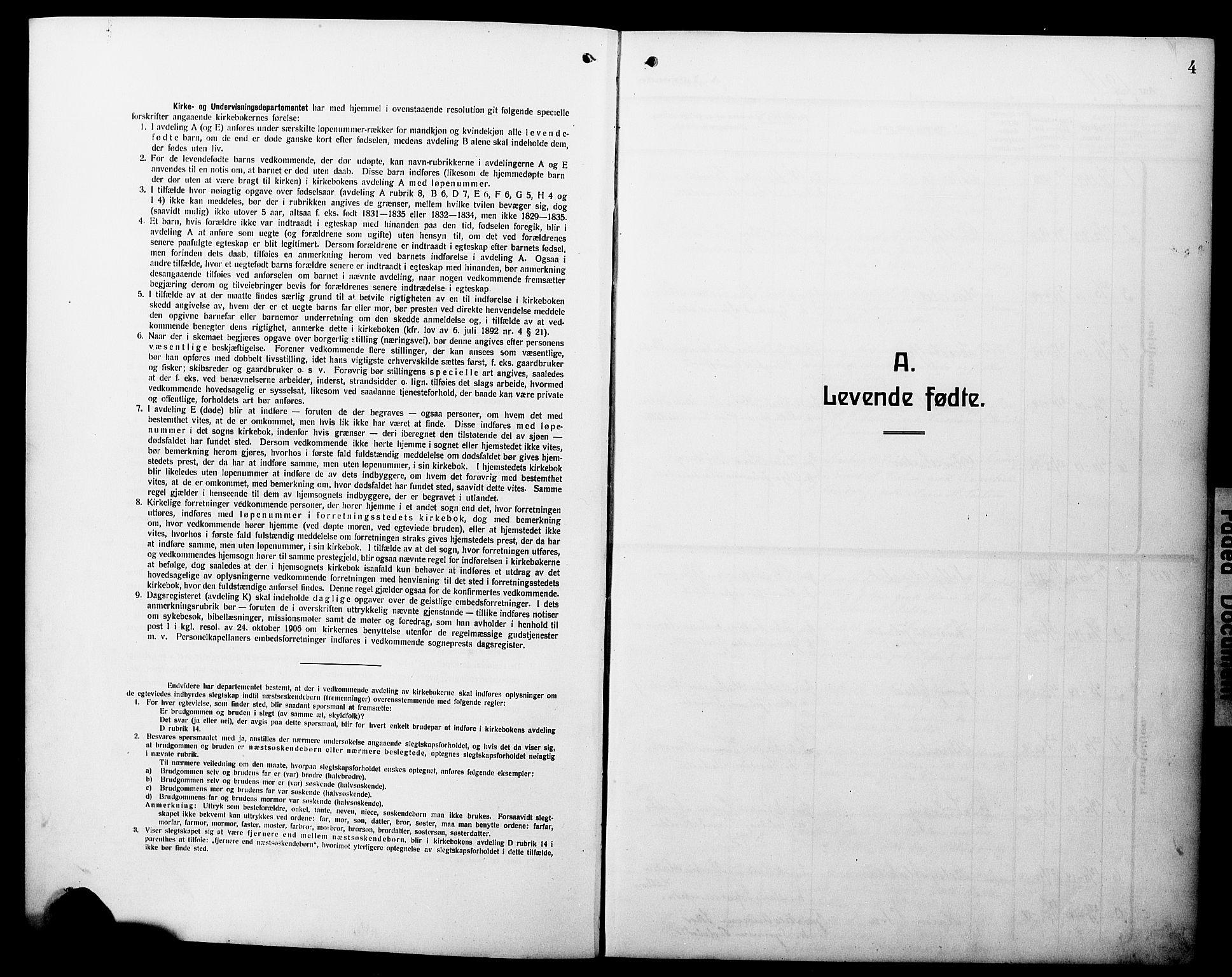 SAB, Hyllestad Sokneprestembete, Klokkerbok nr. C 4, 1914-1927, s. 4