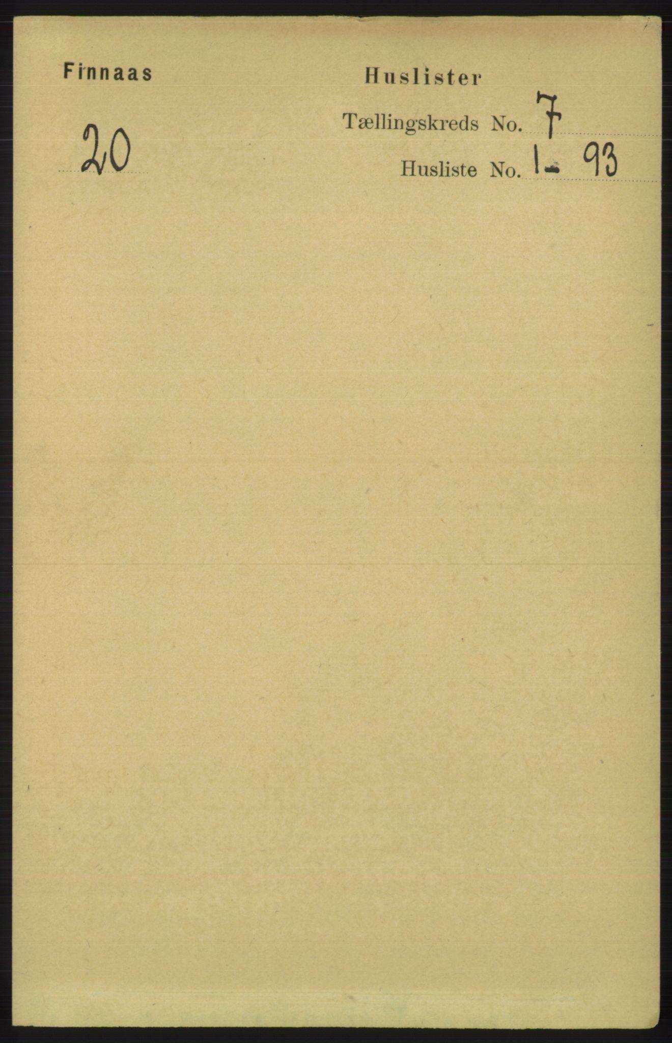 RA, Folketelling 1891 for 1218 Finnås herred, 1891, s. 2539