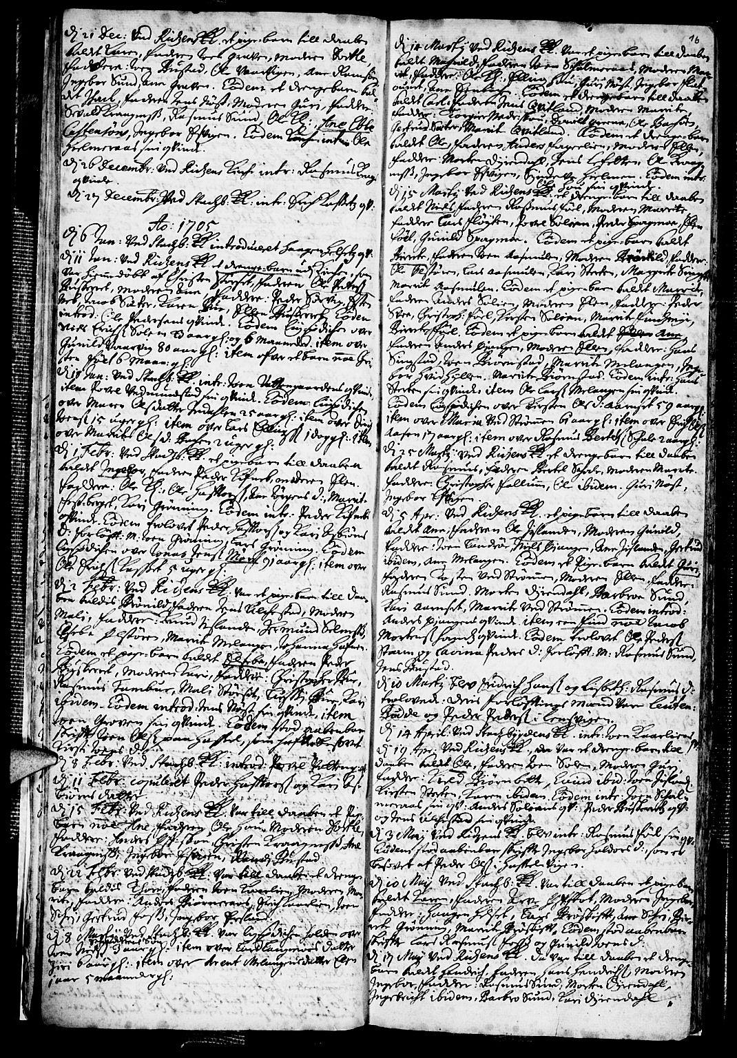 SAT, Ministerialprotokoller, klokkerbøker og fødselsregistre - Sør-Trøndelag, 646/L0603: Ministerialbok nr. 646A01, 1700-1734, s. 16