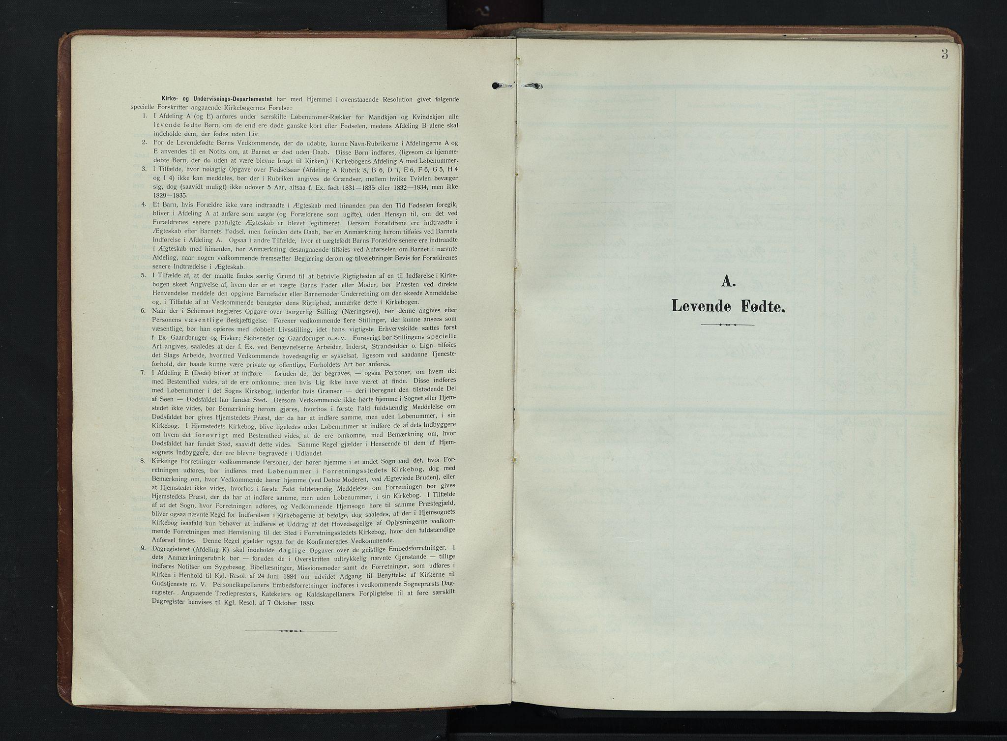 SAH, Søndre Land prestekontor, K/L0007: Ministerialbok nr. 7, 1905-1914, s. 3