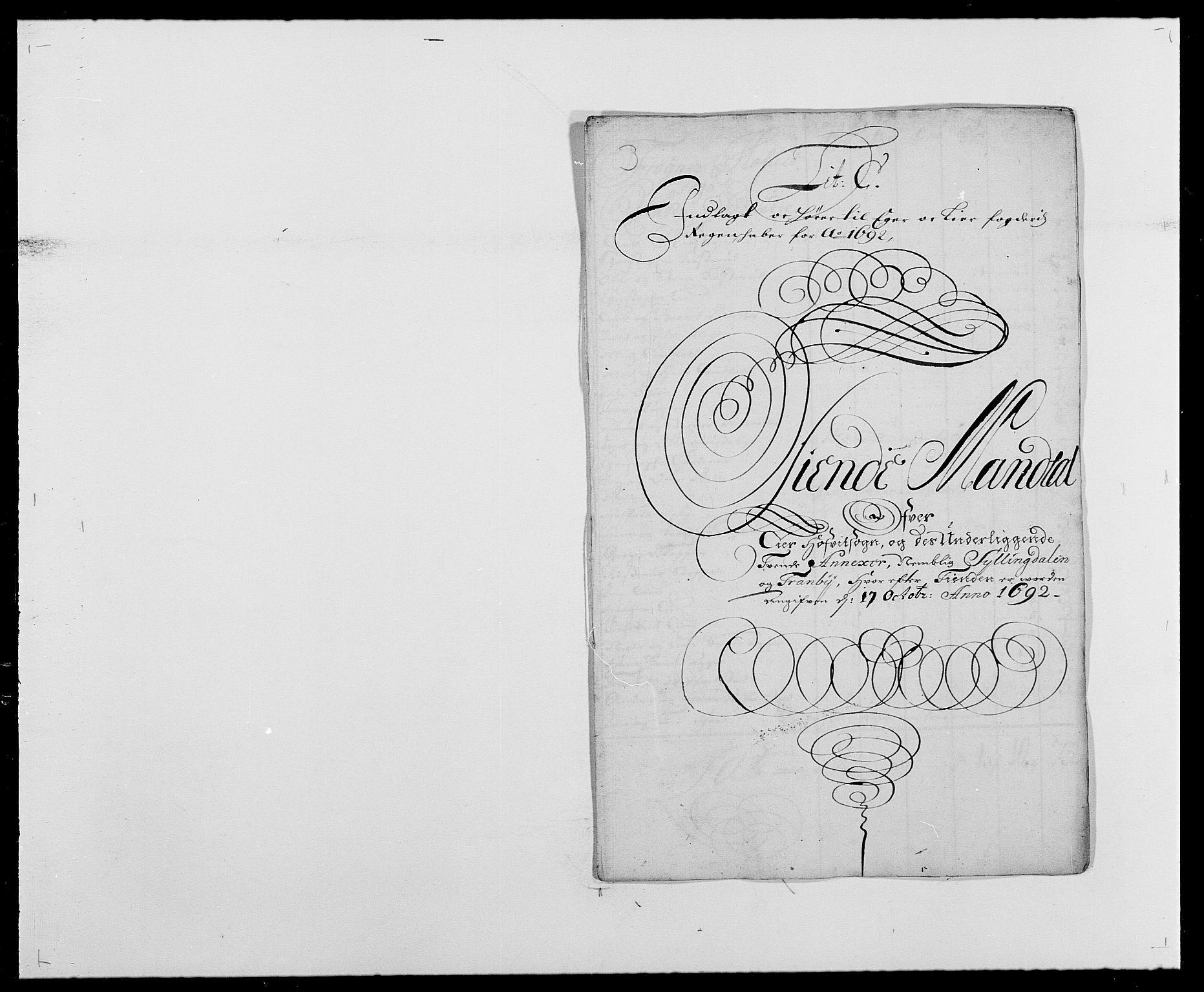RA, Rentekammeret inntil 1814, Reviderte regnskaper, Fogderegnskap, R28/L1690: Fogderegnskap Eiker og Lier, 1692-1693, s. 20