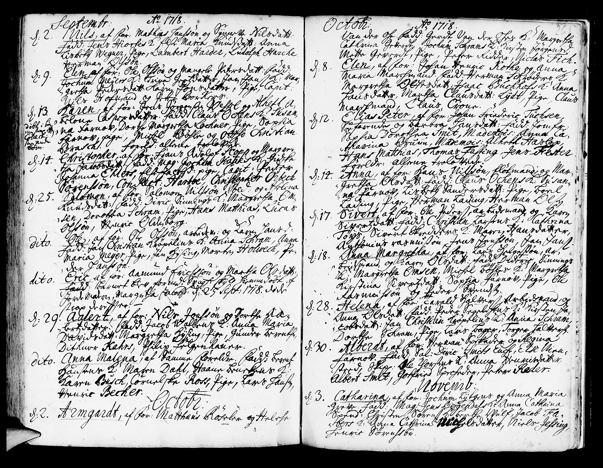 SAB, Korskirken Sokneprestembete, H/Haa/L0003: Ministerialbok nr. A 3, 1698-1719, s. 265