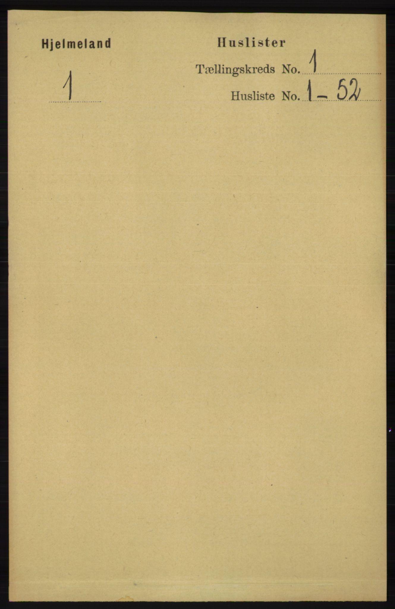 RA, Folketelling 1891 for 1133 Hjelmeland herred, 1891, s. 22