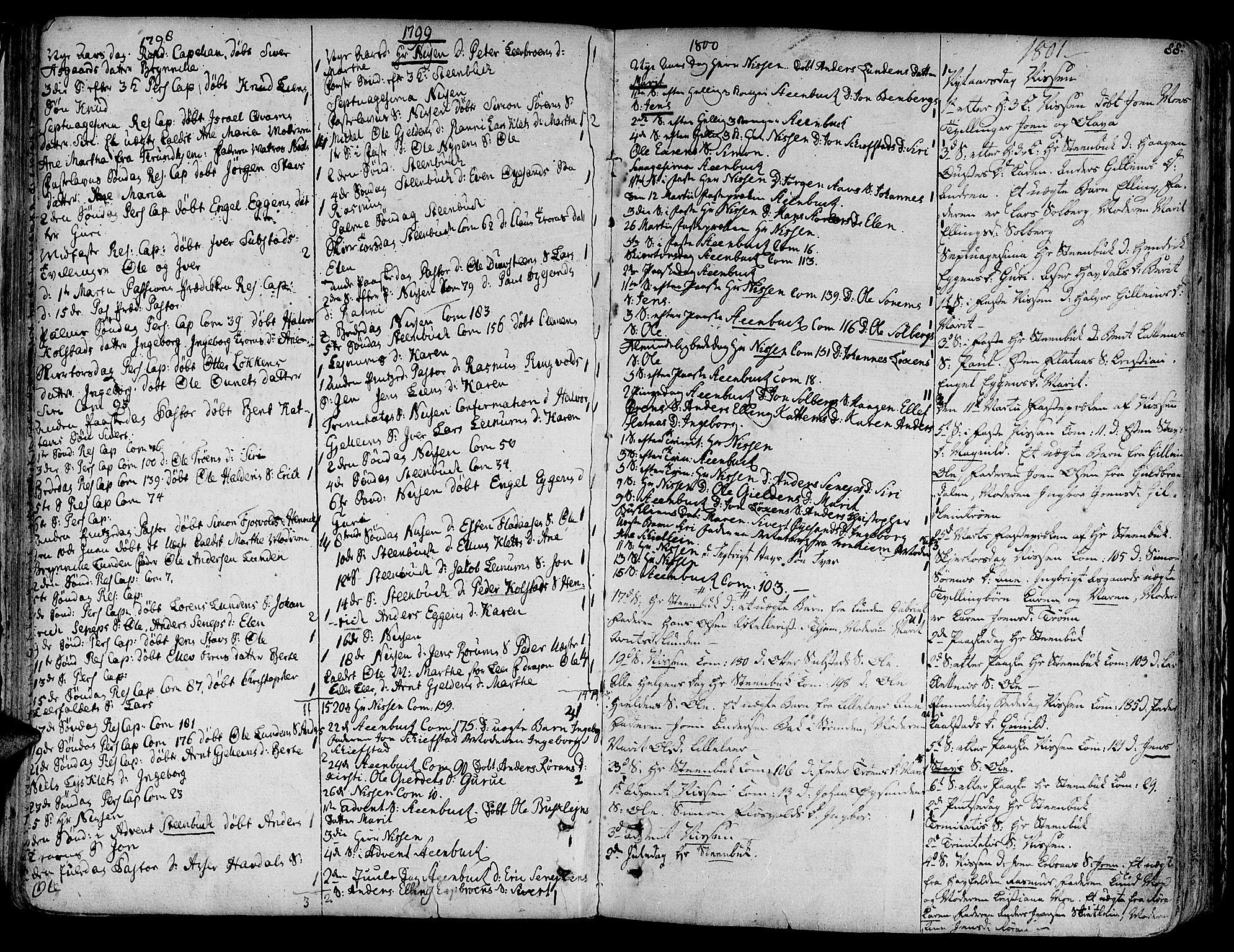 SAT, Ministerialprotokoller, klokkerbøker og fødselsregistre - Sør-Trøndelag, 691/L1063: Ministerialbok nr. 691A02 /3, 1768-1815, s. 88