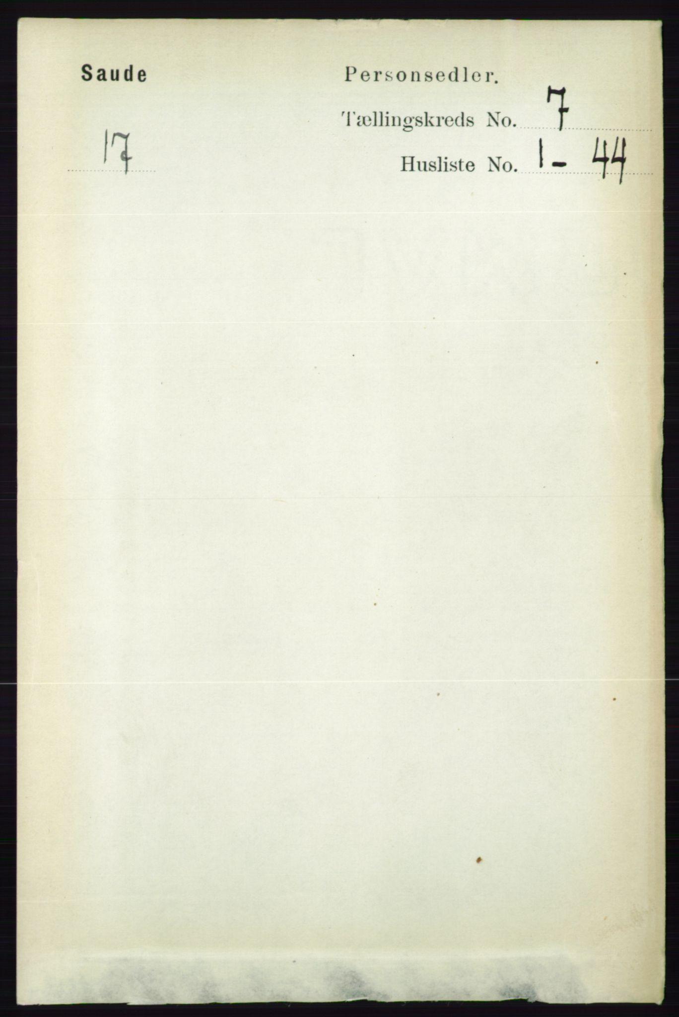RA, Folketelling 1891 for 0822 Sauherad herred, 1891, s. 2029