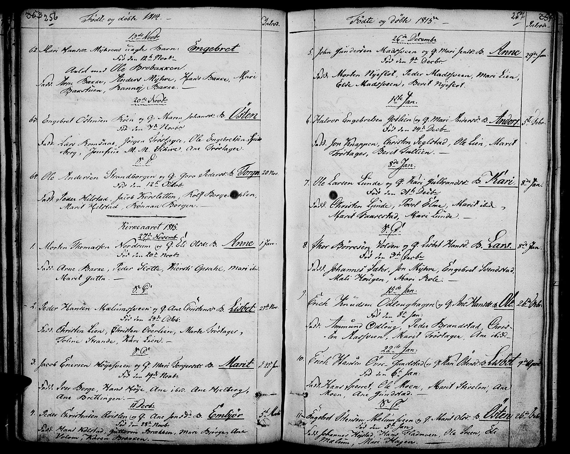 SAH, Ringebu prestekontor, Ministerialbok nr. 3, 1781-1820, s. 256-257