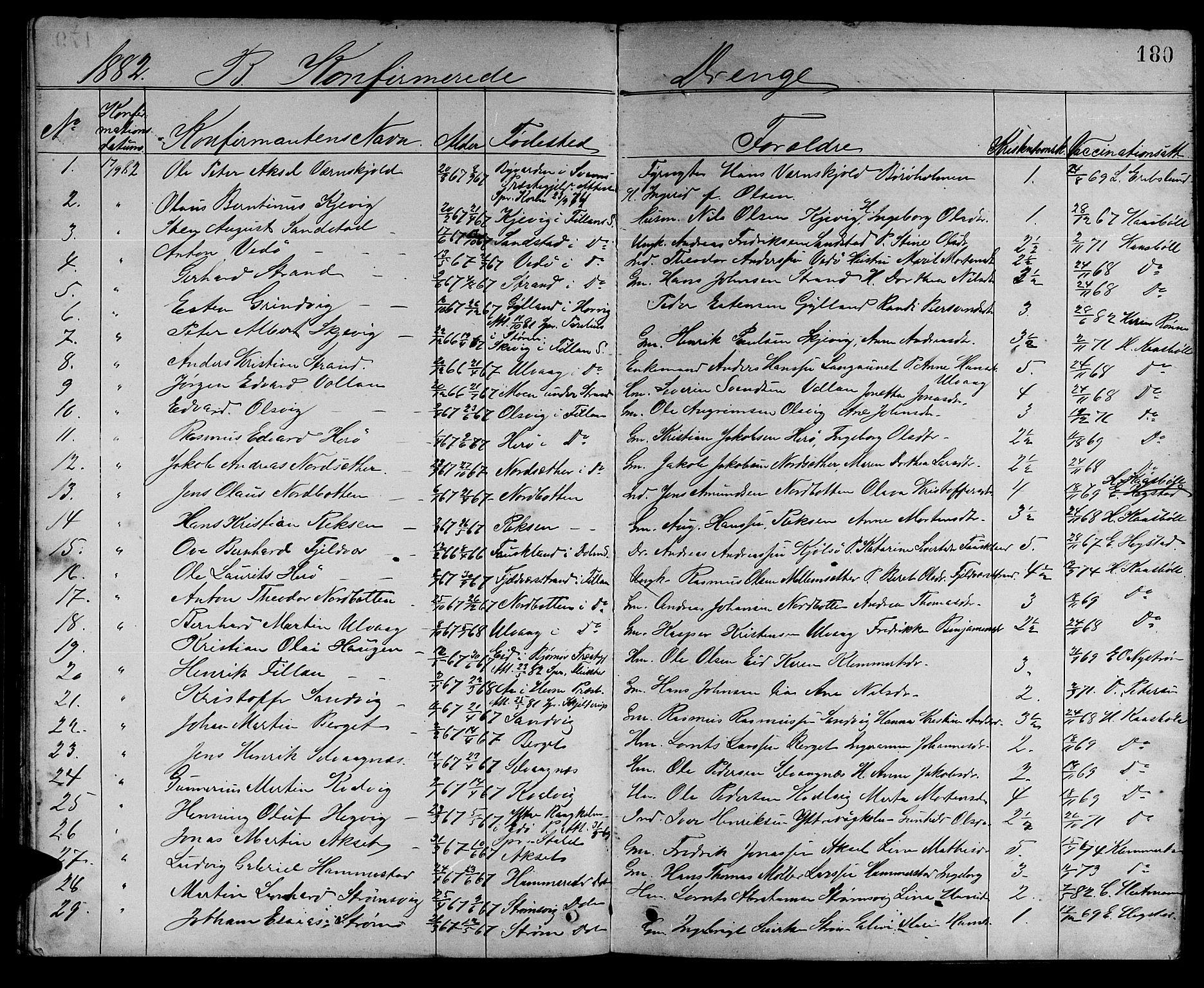 SAT, Ministerialprotokoller, klokkerbøker og fødselsregistre - Sør-Trøndelag, 637/L0561: Klokkerbok nr. 637C02, 1873-1882, s. 180