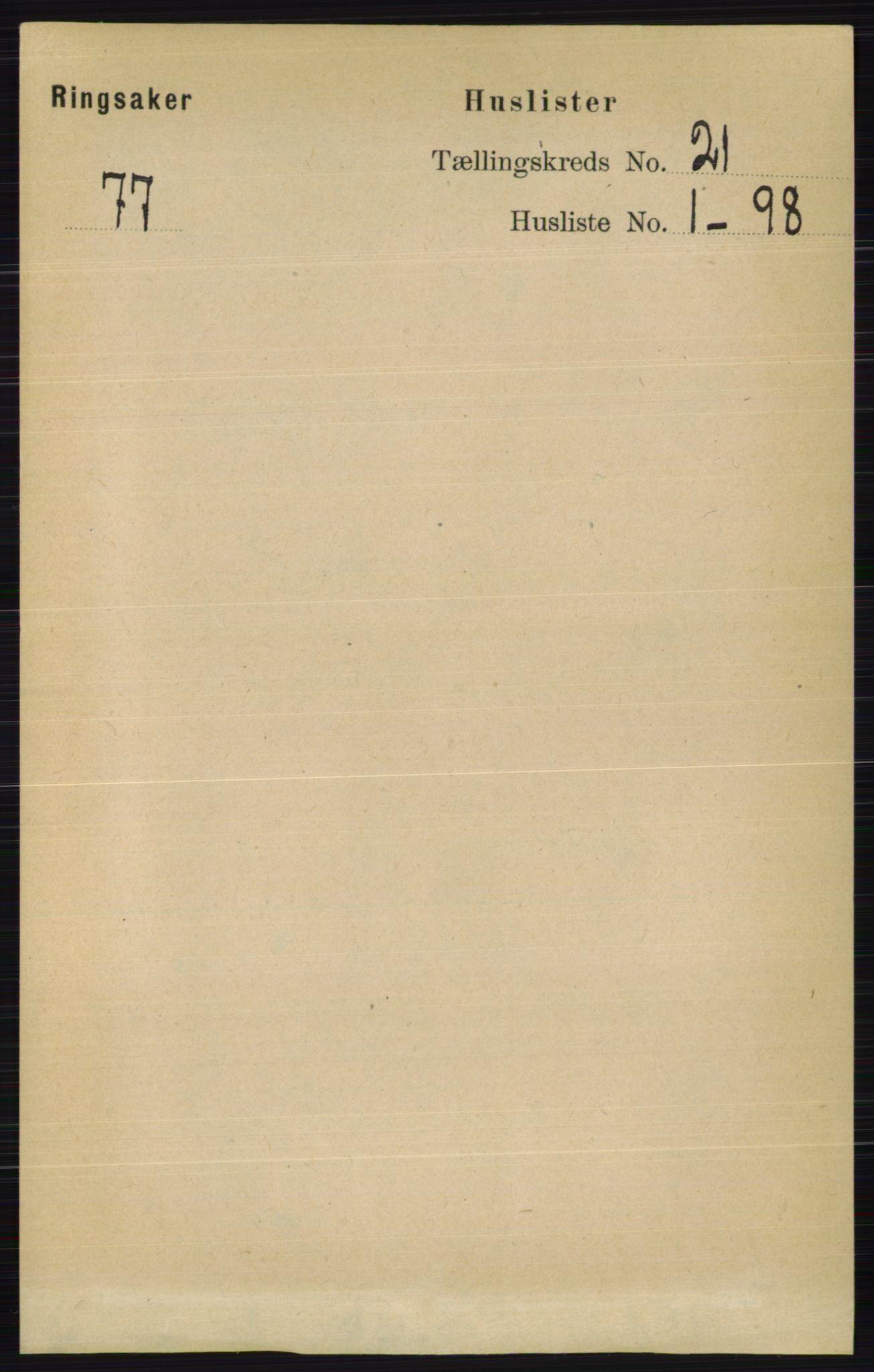 RA, Folketelling 1891 for 0412 Ringsaker herred, 1891, s. 11684