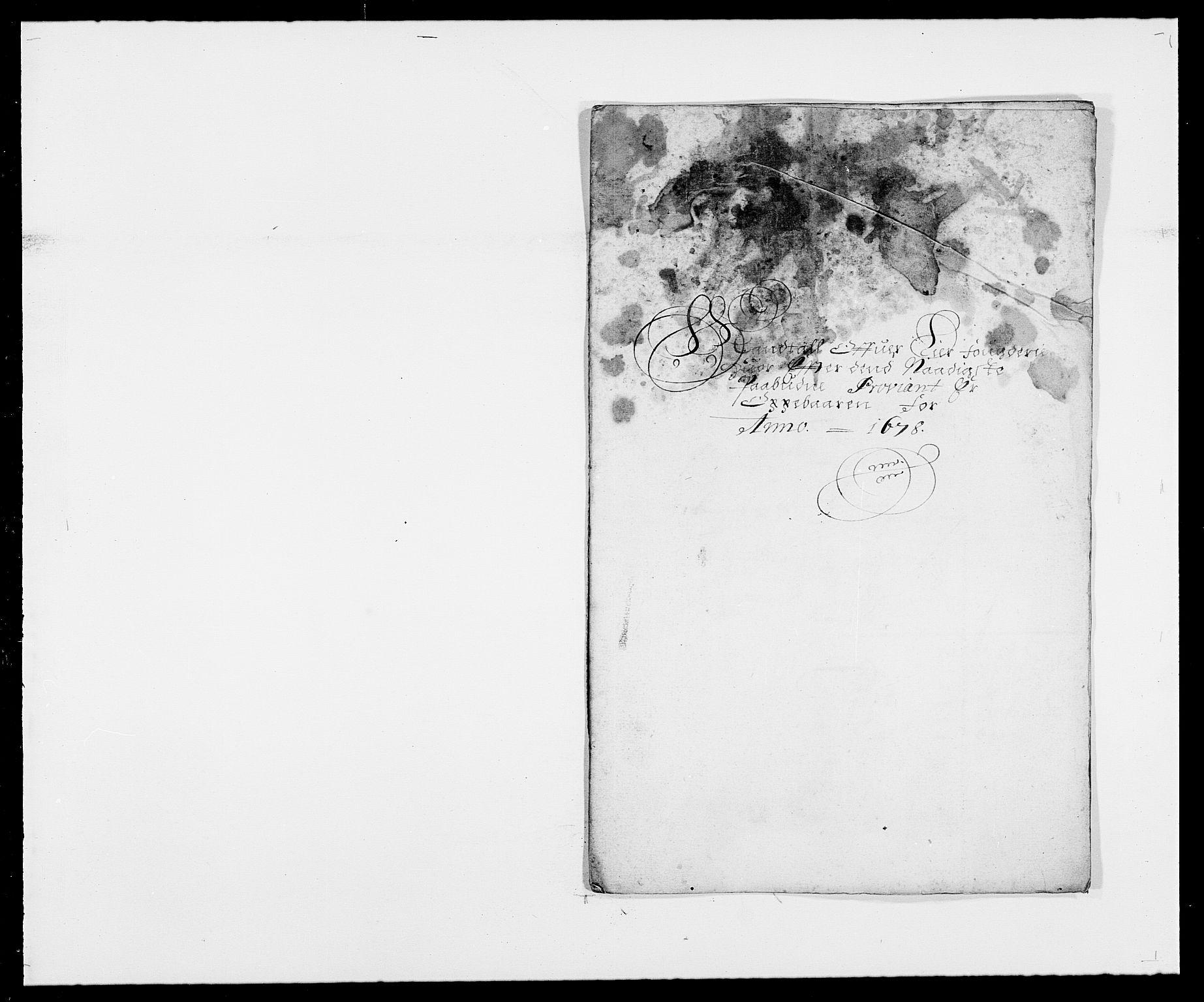 RA, Rentekammeret inntil 1814, Reviderte regnskaper, Fogderegnskap, R27/L1686: Fogderegnskap Lier, 1678-1686, s. 75