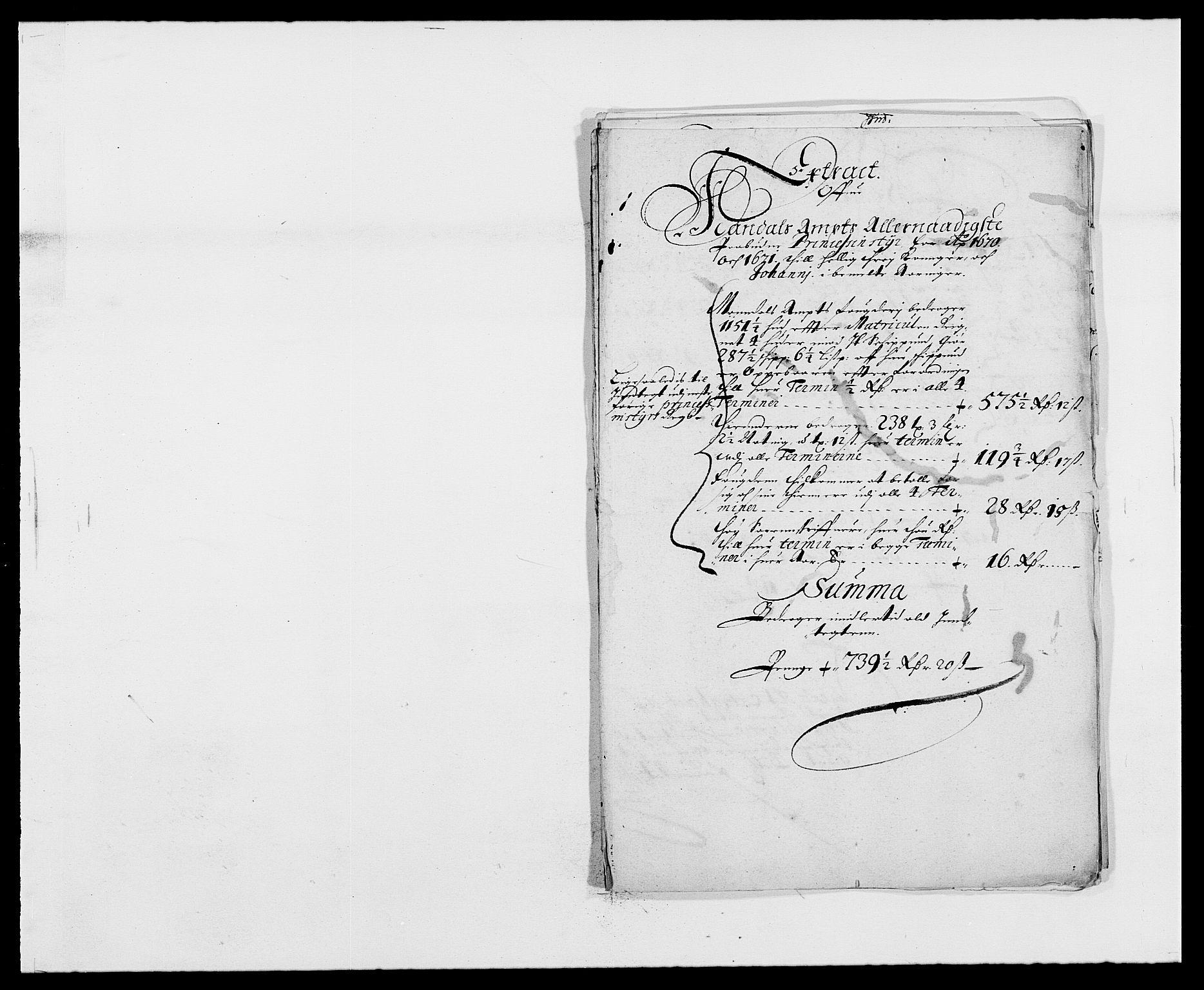 RA, Rentekammeret inntil 1814, Reviderte regnskaper, Fogderegnskap, R42/L2539: Mandal fogderi, 1671-1675, s. 54