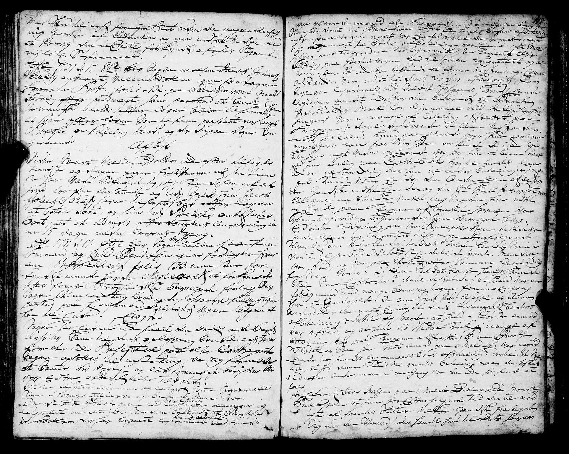 SAT, Romsdal sorenskriveri, 1/1A/L0010: Tingbok, 1728-1732, s. 145