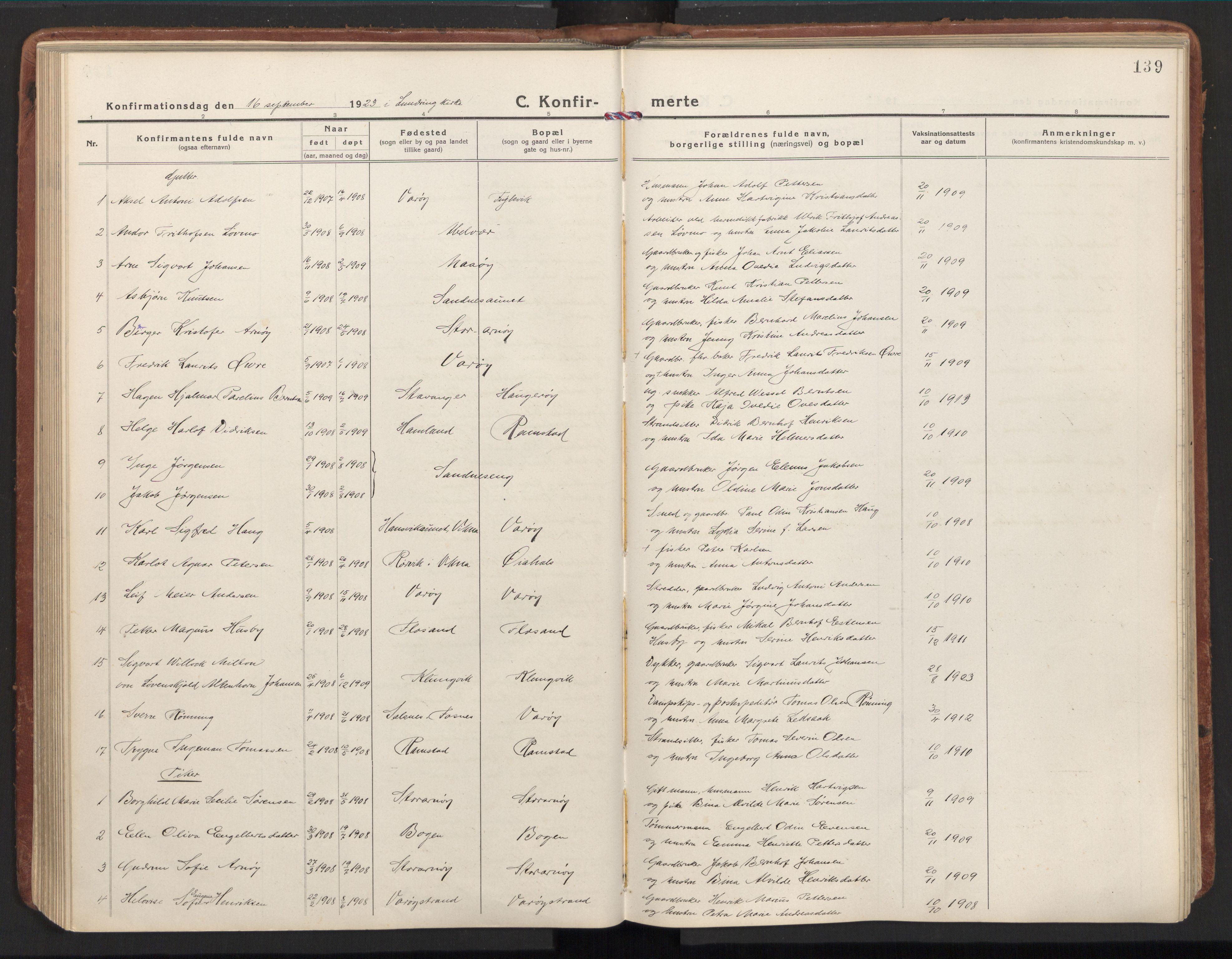 SAT, Ministerialprotokoller, klokkerbøker og fødselsregistre - Nord-Trøndelag, 784/L0678: Ministerialbok nr. 784A13, 1921-1938, s. 139