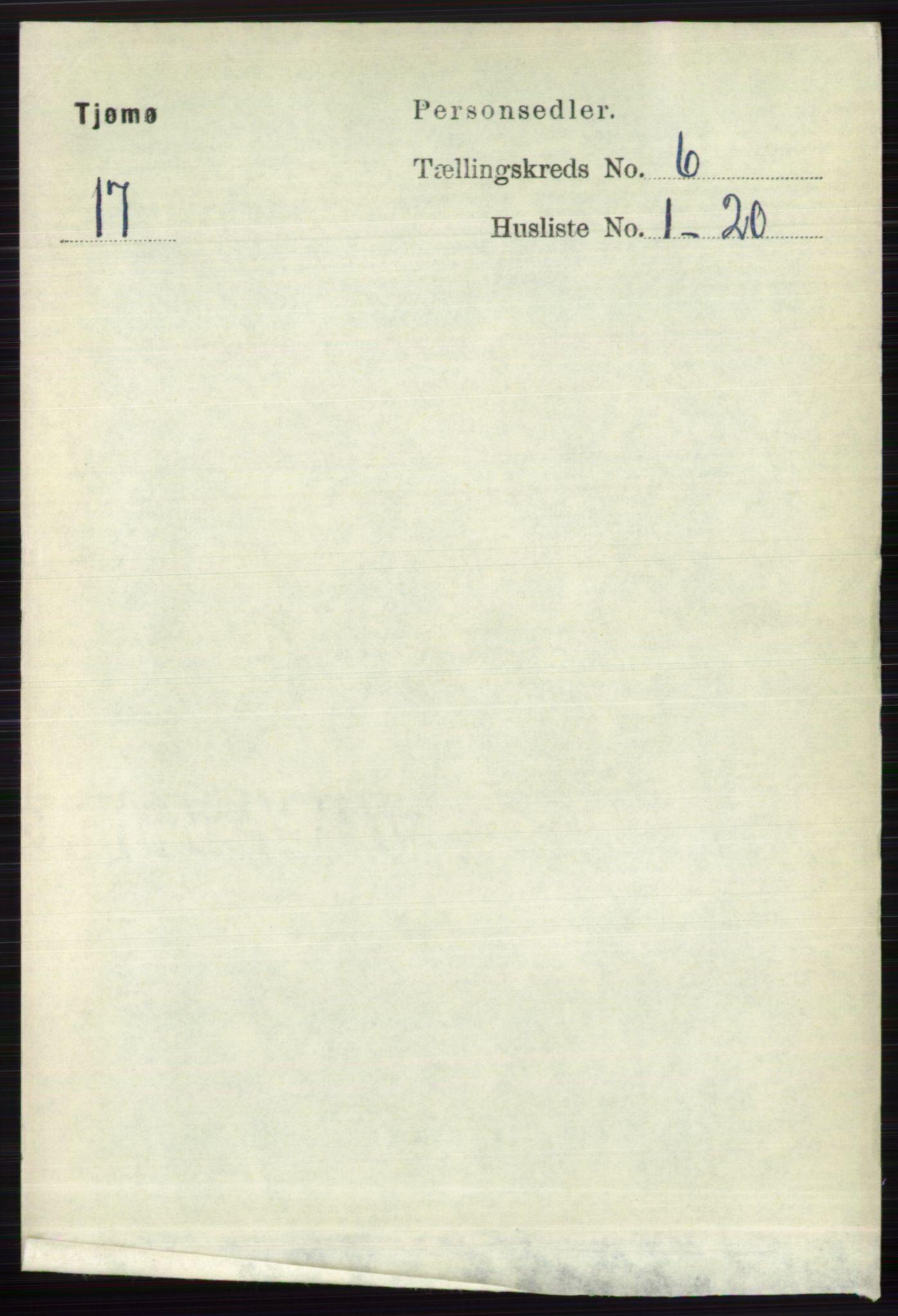 RA, Folketelling 1891 for 0723 Tjøme herred, 1891, s. 2109