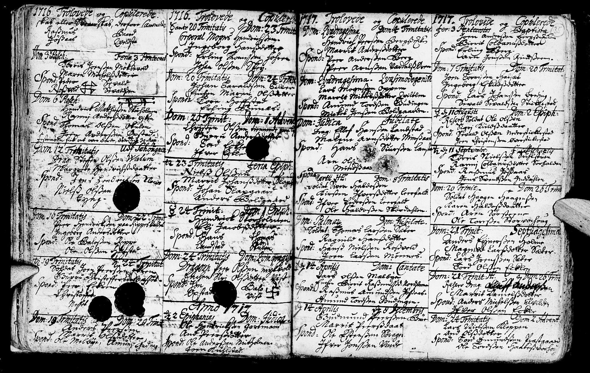 SAT, Ministerialprotokoller, klokkerbøker og fødselsregistre - Nord-Trøndelag, 723/L0230: Ministerialbok nr. 723A01, 1705-1747, s. 35