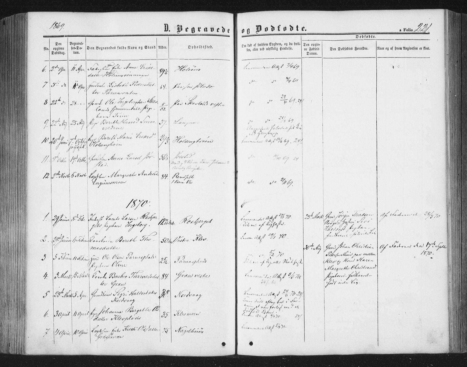 SAT, Ministerialprotokoller, klokkerbøker og fødselsregistre - Nord-Trøndelag, 749/L0472: Ministerialbok nr. 749A06, 1857-1873, s. 221