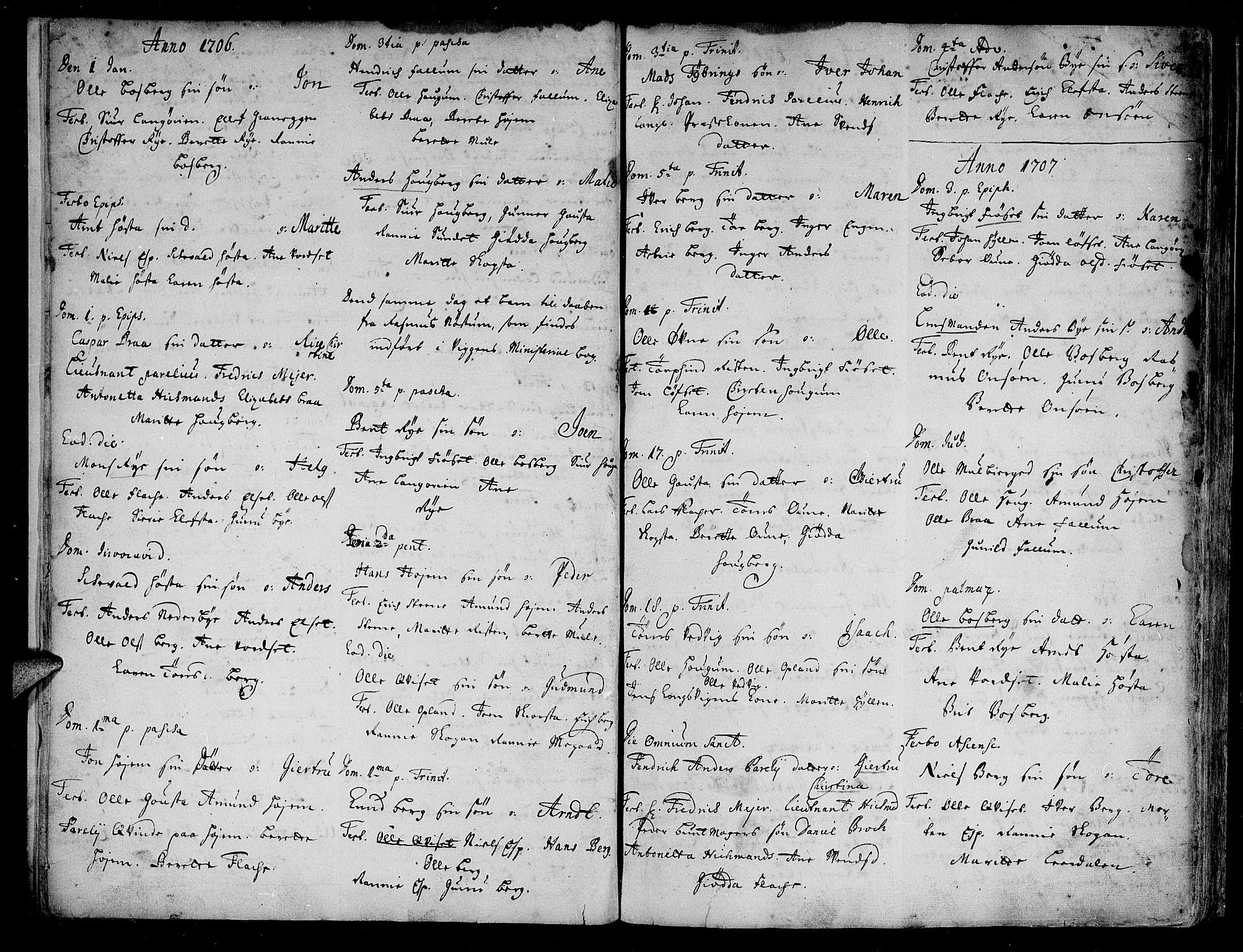 SAT, Ministerialprotokoller, klokkerbøker og fødselsregistre - Sør-Trøndelag, 612/L0368: Ministerialbok nr. 612A02, 1702-1753, s. 4