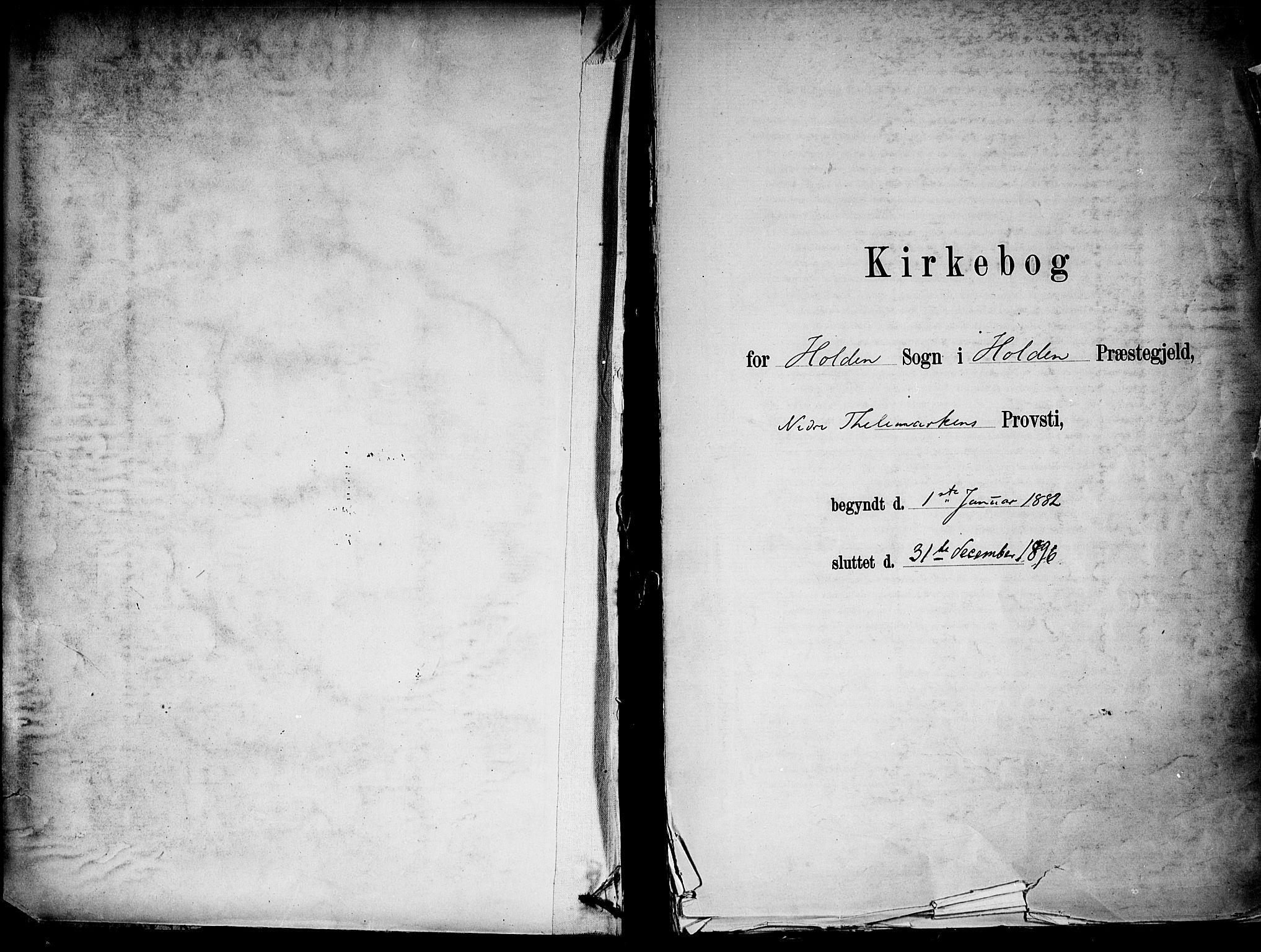 SAKO, Holla kirkebøker, F/Fa/L0008: Ministerialbok nr. 8, 1882-1897