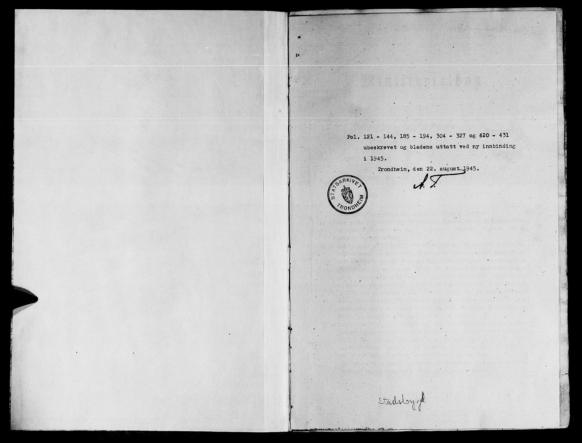 SAT, Ministerialprotokoller, klokkerbøker og fødselsregistre - Sør-Trøndelag, 646/L0610: Ministerialbok nr. 646A08, 1837-1847