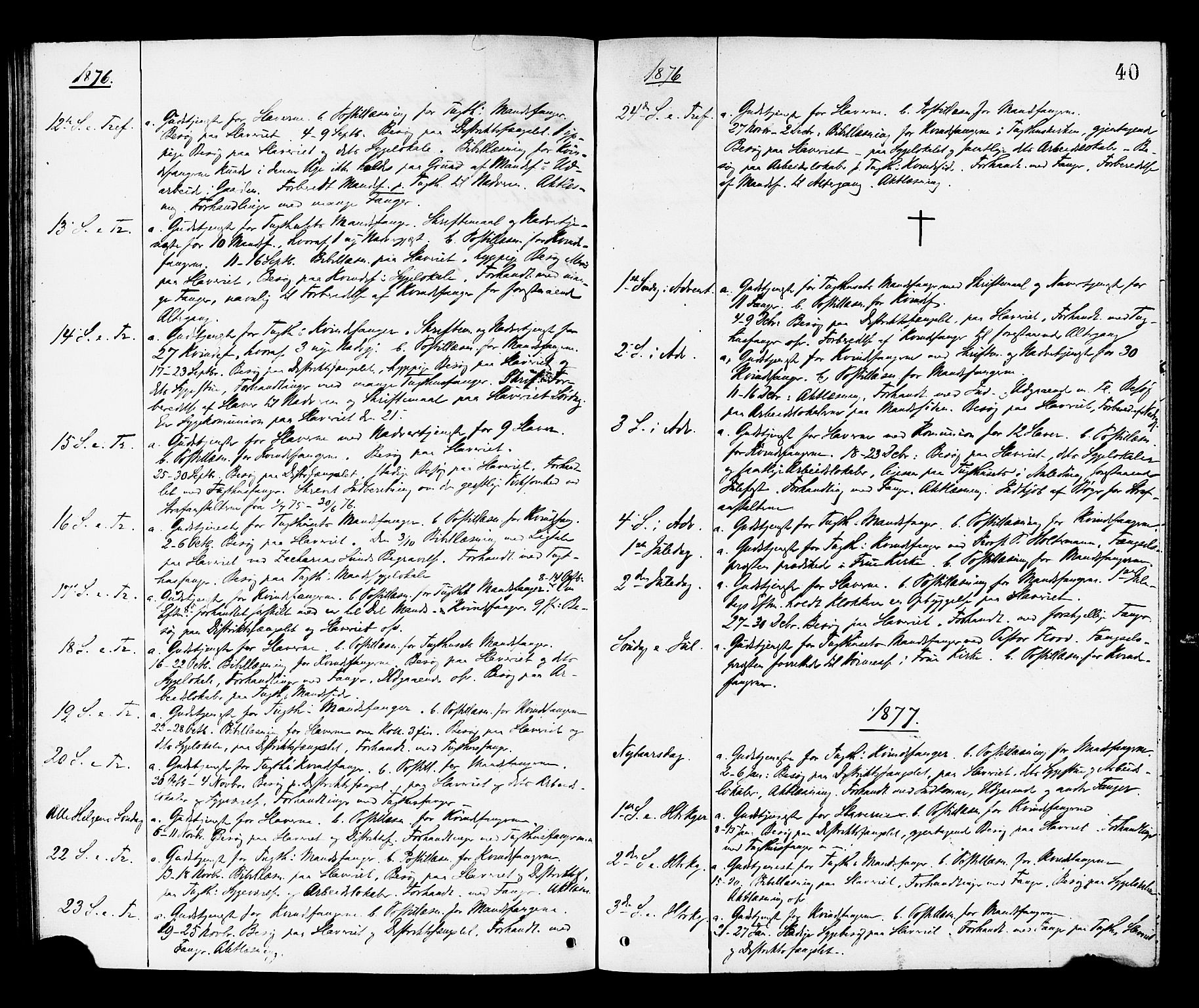 SAT, Ministerialprotokoller, klokkerbøker og fødselsregistre - Sør-Trøndelag, 624/L0482: Ministerialbok nr. 624A03, 1870-1918, s. 40