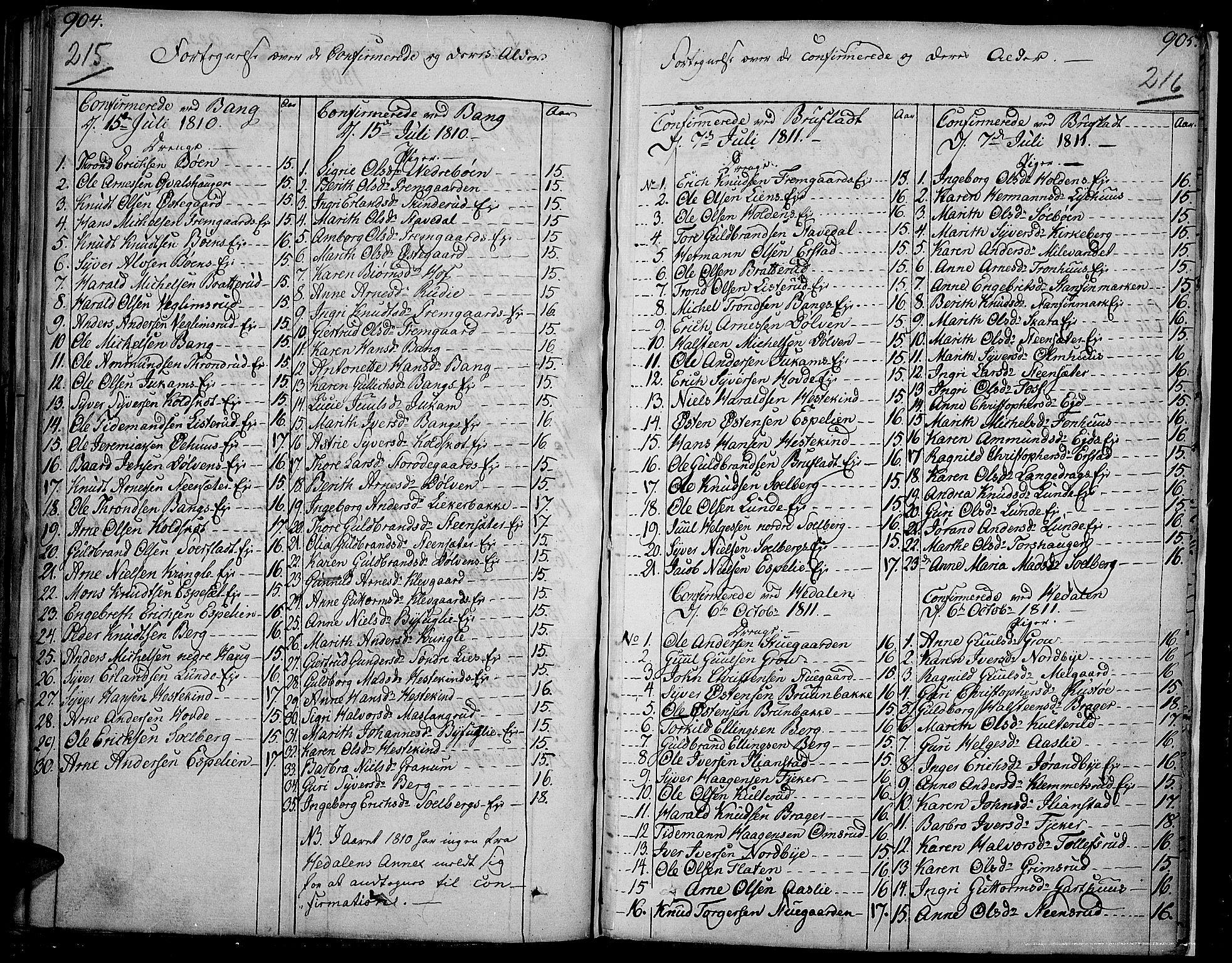 SAH, Sør-Aurdal prestekontor, Ministerialbok nr. 1, 1807-1815, s. 215-216