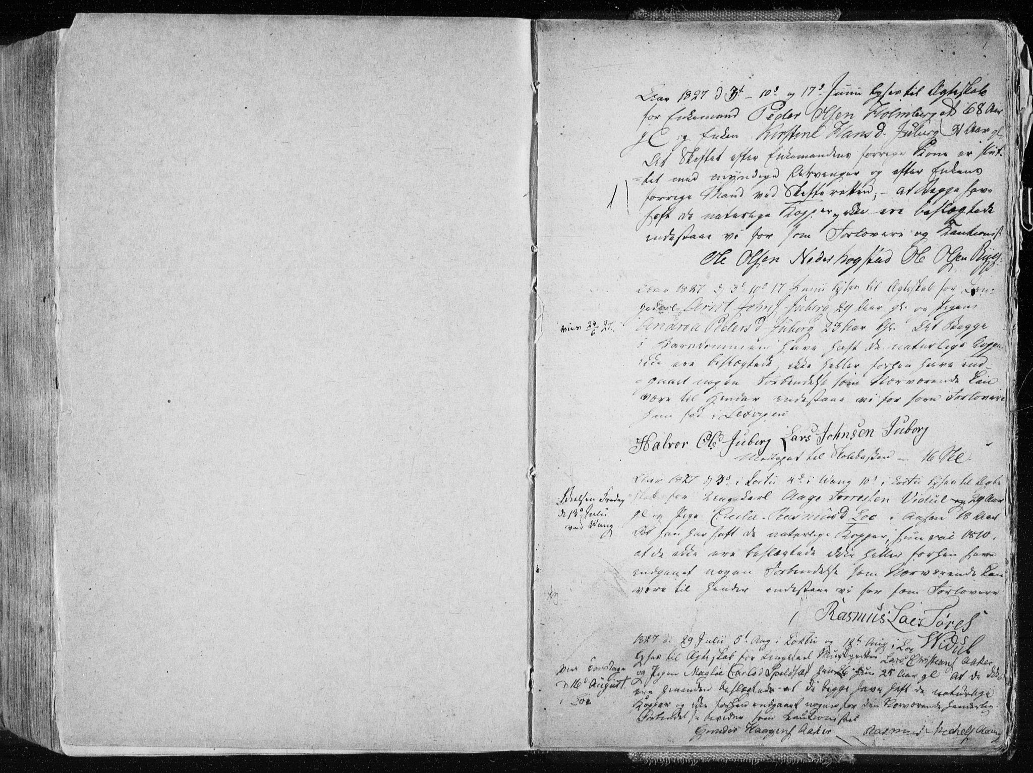 SAT, Ministerialprotokoller, klokkerbøker og fødselsregistre - Nord-Trøndelag, 713/L0114: Ministerialbok nr. 713A05, 1827-1839, s. 1