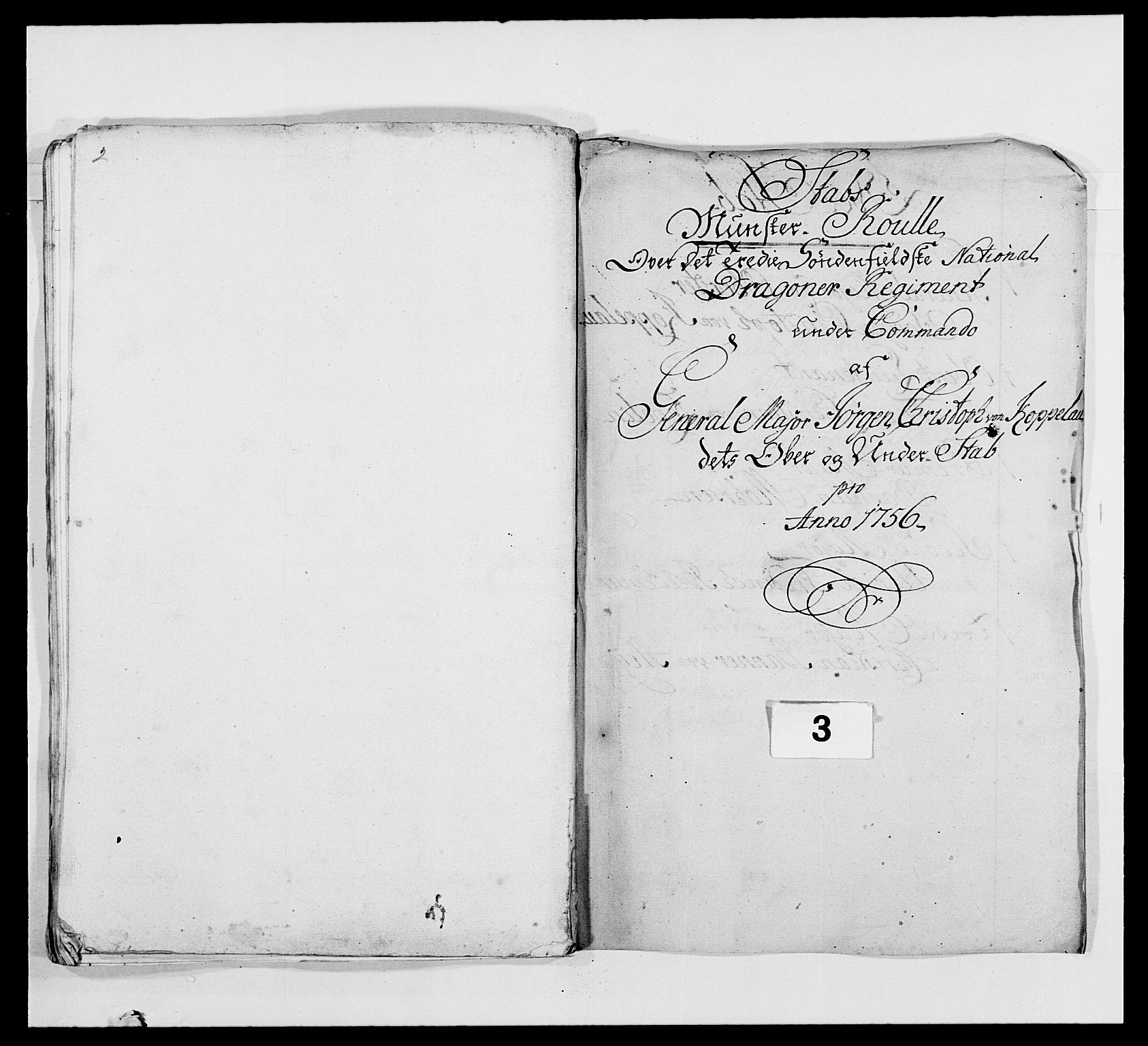 RA, Kommanderende general (KG I) med Det norske krigsdirektorium, E/Ea/L0479: 3. Sønnafjelske dragonregiment, 1756-1760, s. 58