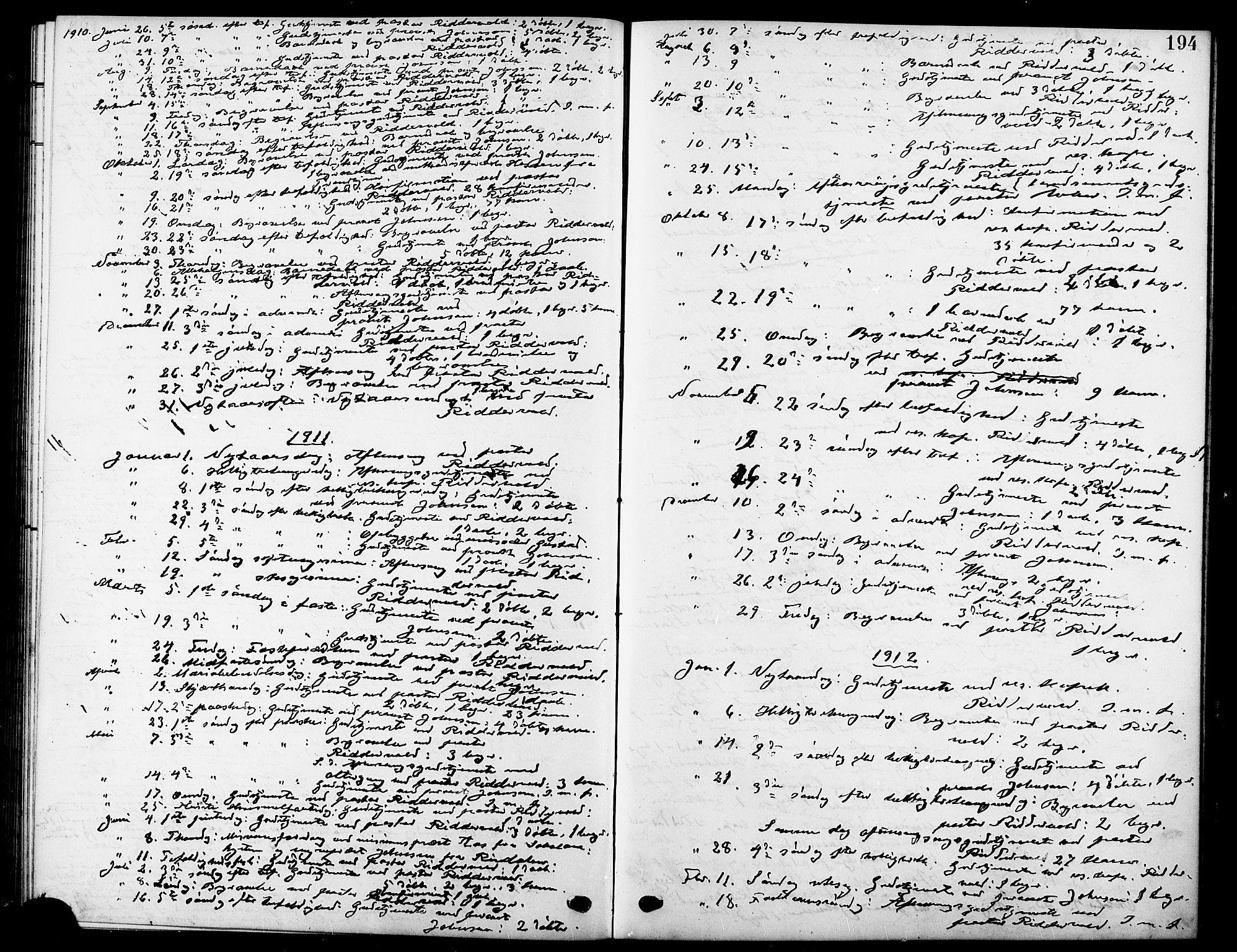 SAT, Ministerialprotokoller, klokkerbøker og fødselsregistre - Sør-Trøndelag, 669/L0831: Klokkerbok nr. 669C01, 1909-1924, s. 194