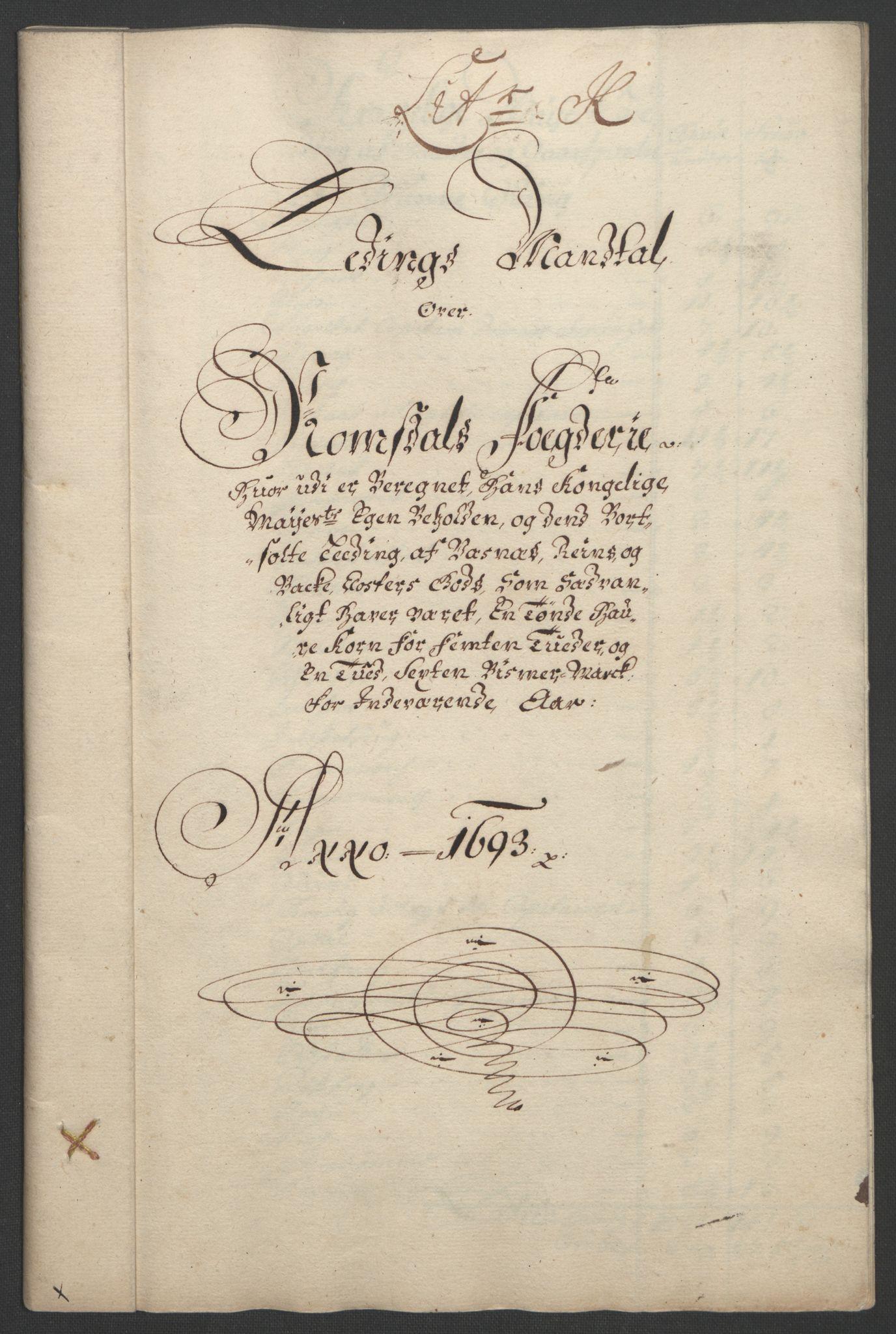 RA, Rentekammeret inntil 1814, Reviderte regnskaper, Fogderegnskap, R55/L3651: Fogderegnskap Romsdal, 1693-1694, s. 103