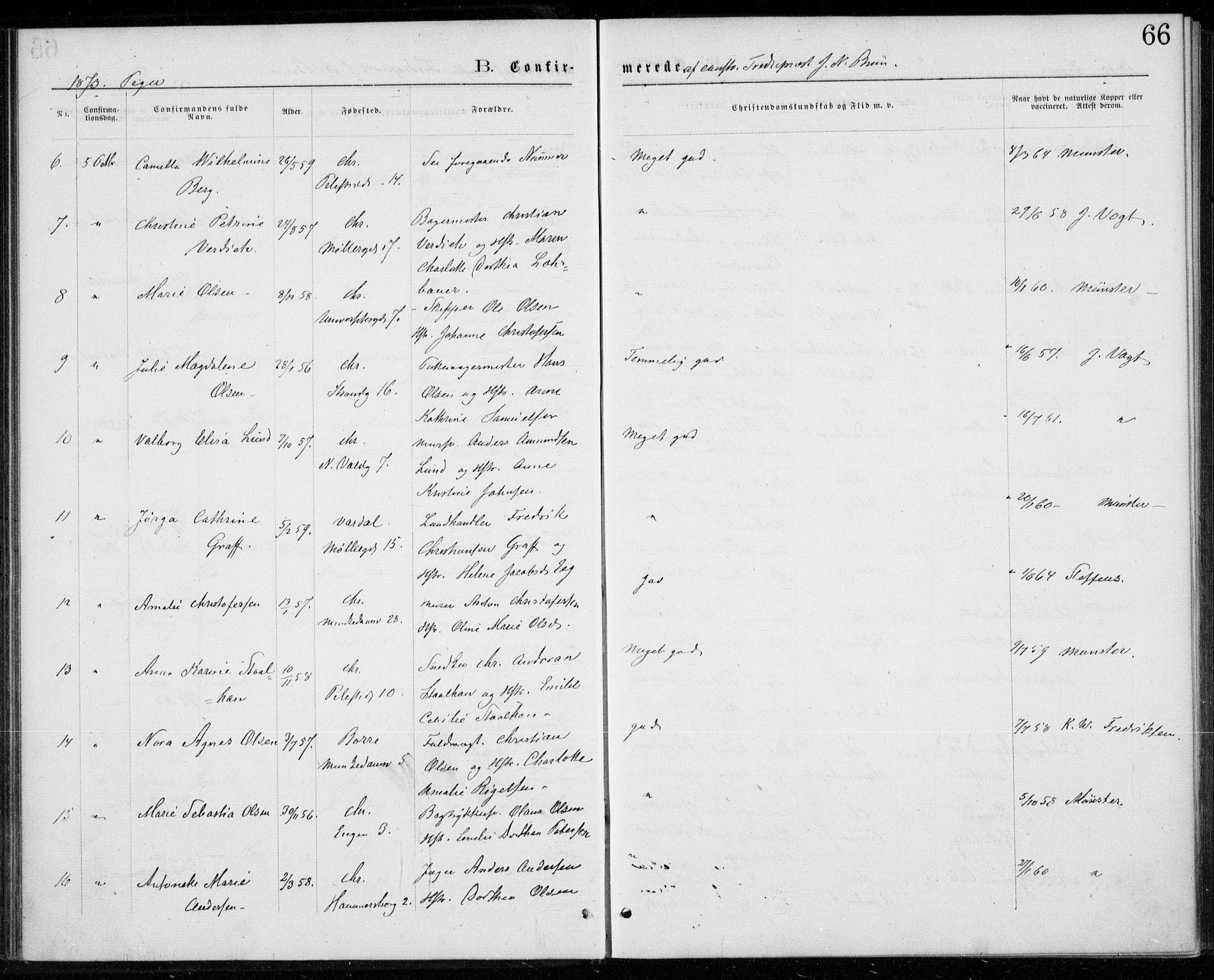 SAO, Trefoldighet prestekontor Kirkebøker, F/Fb/L0002: Ministerialbok nr. II 2, 1871-1880, s. 66