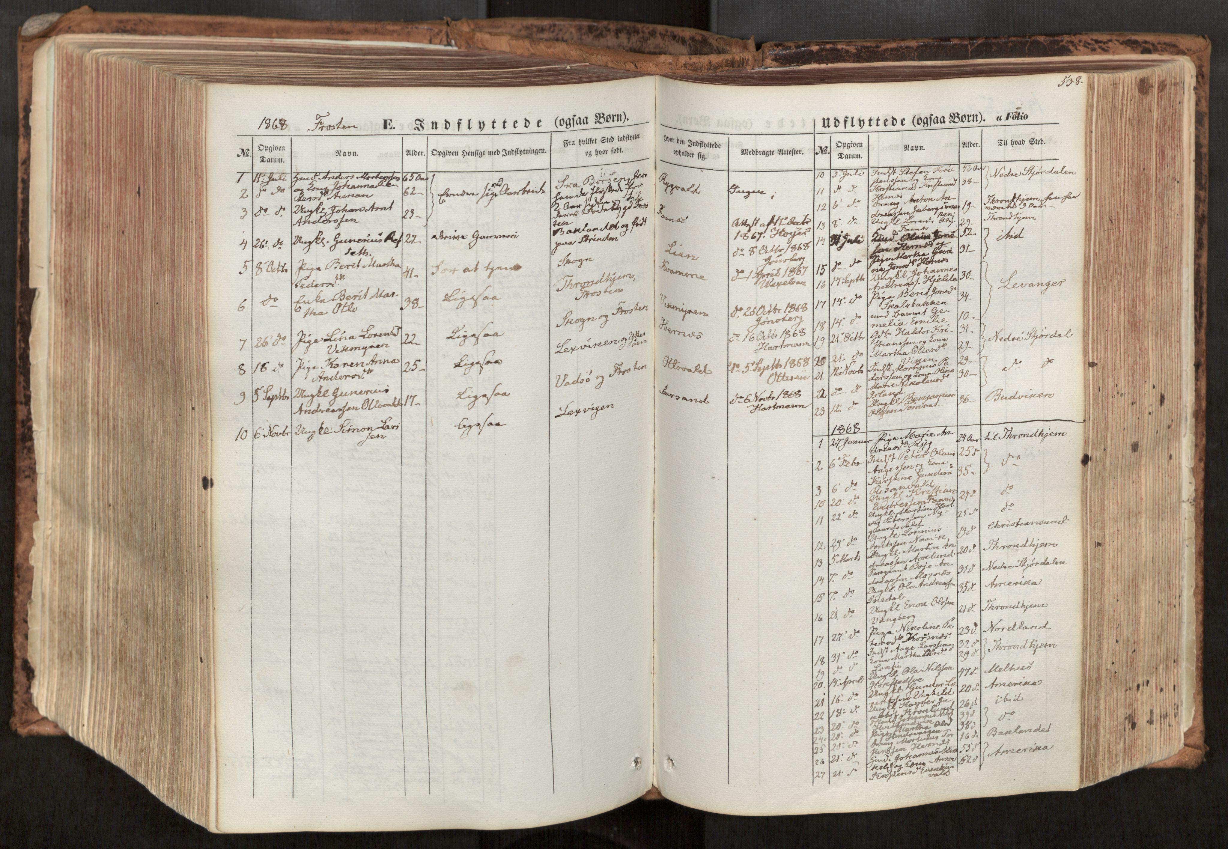 SAT, Ministerialprotokoller, klokkerbøker og fødselsregistre - Nord-Trøndelag, 713/L0116: Ministerialbok nr. 713A07, 1850-1877, s. 538