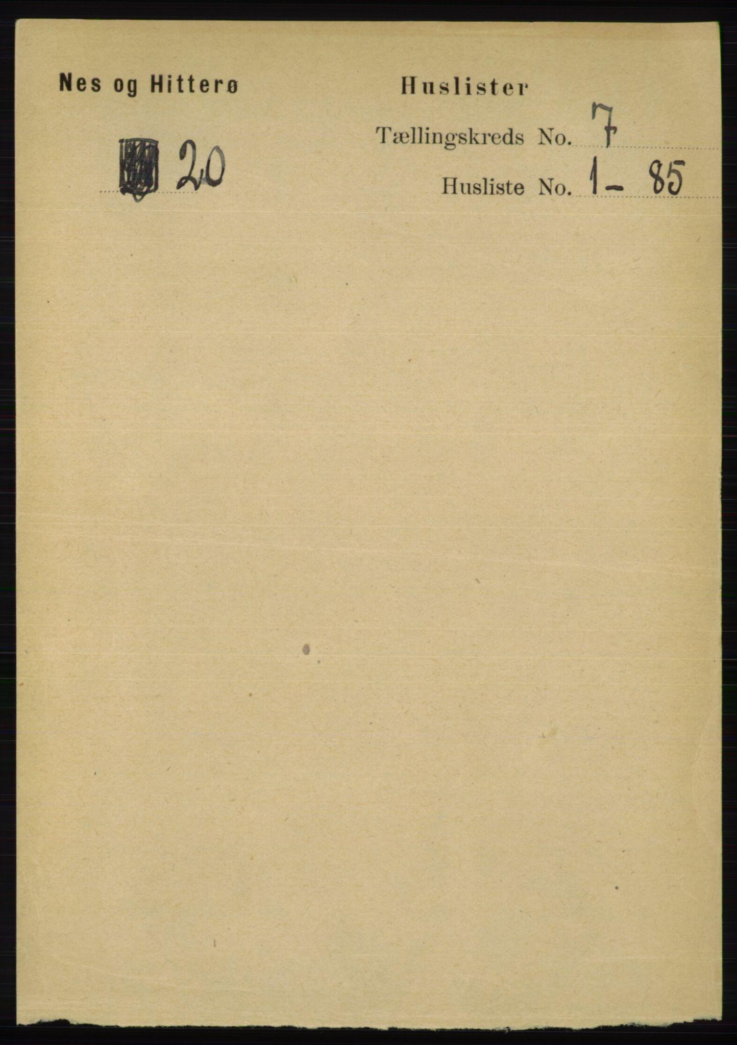 RA, Folketelling 1891 for 1043 Hidra og Nes herred, 1891, s. 2712