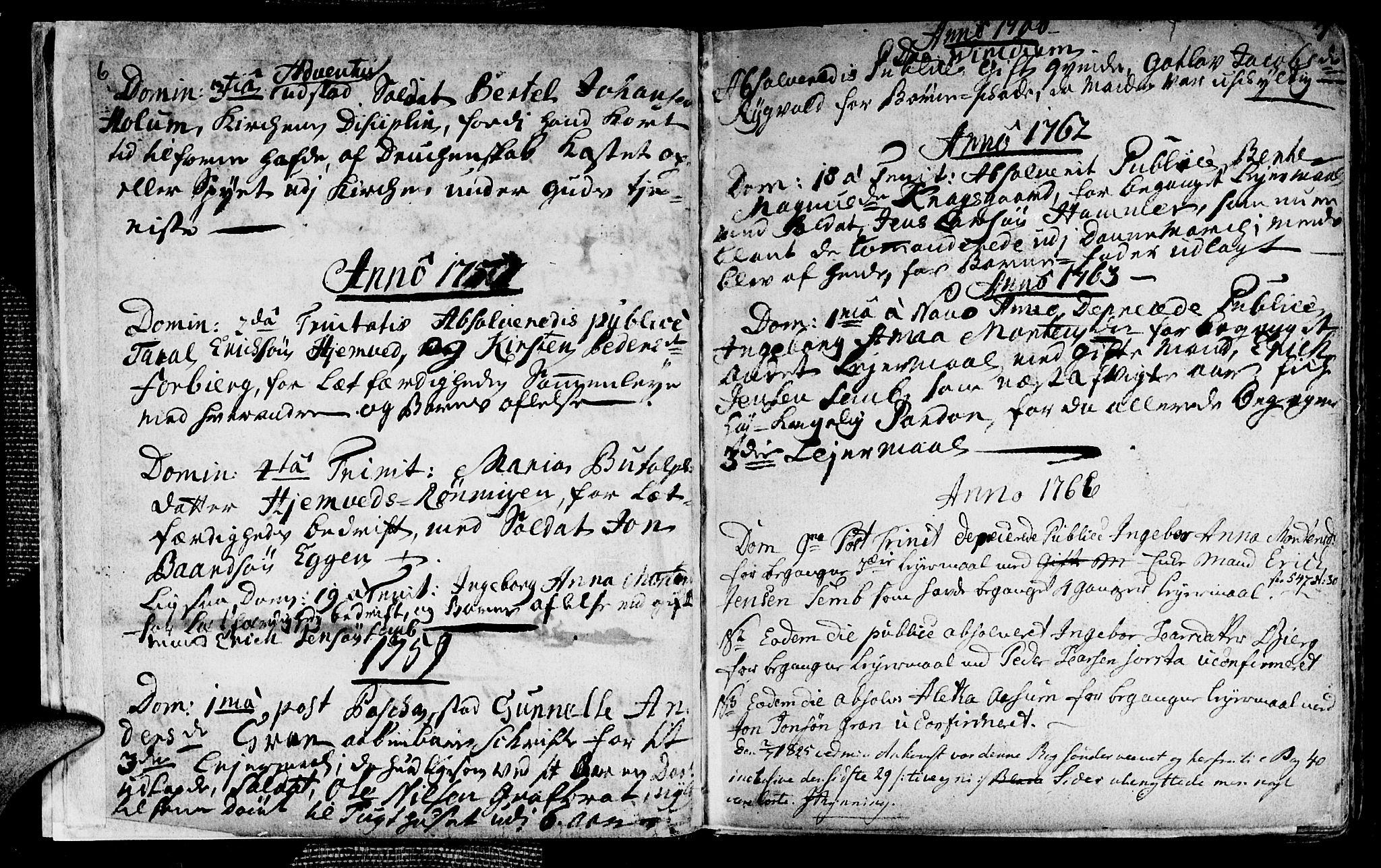 SAT, Ministerialprotokoller, klokkerbøker og fødselsregistre - Nord-Trøndelag, 749/L0467: Ministerialbok nr. 749A01, 1733-1787, s. 6-7
